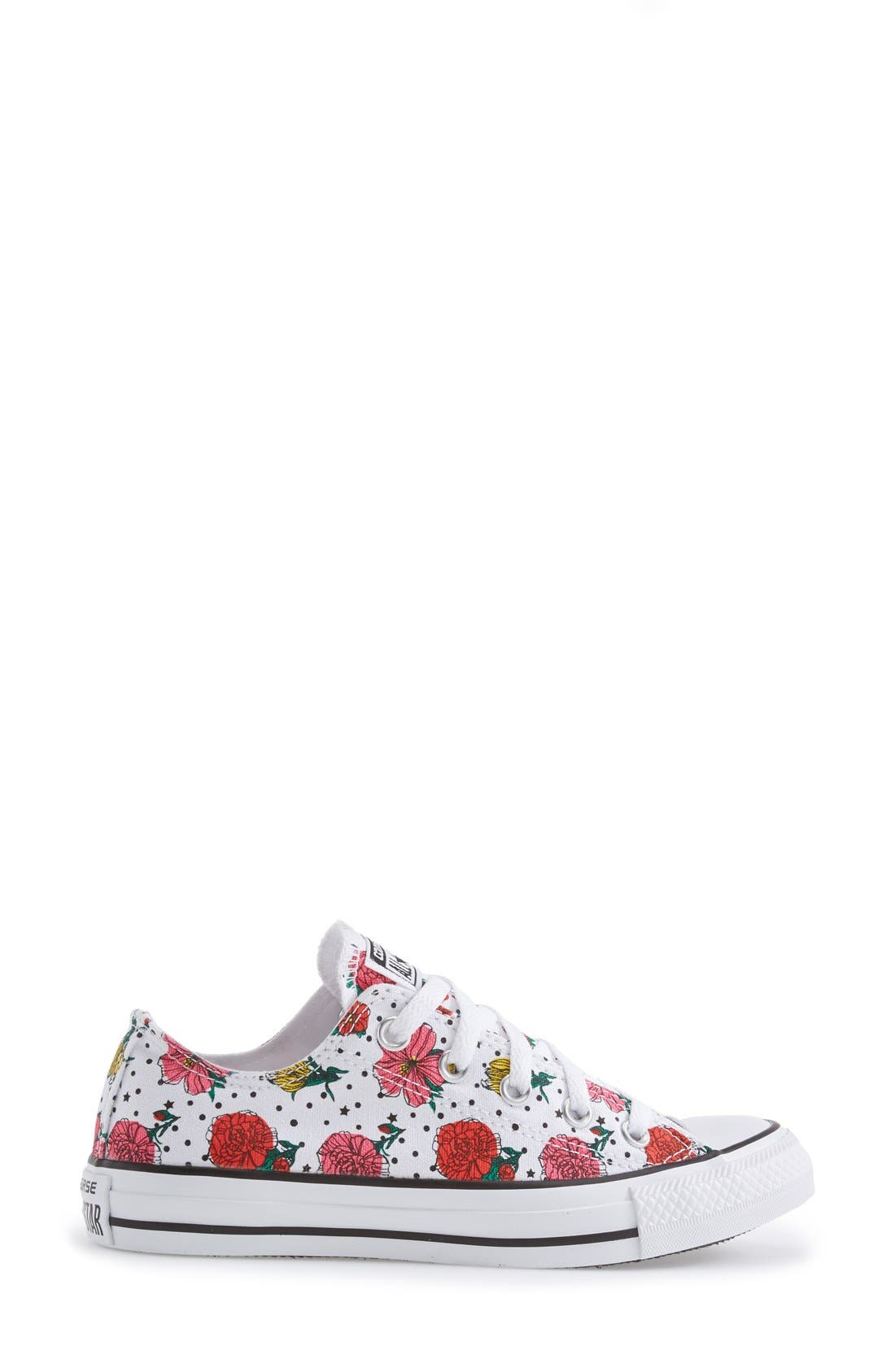 Alternate Image 5  - Converse Chuck Taylor® All Star® Floral Polka Dot Low Top Sneaker (Women)