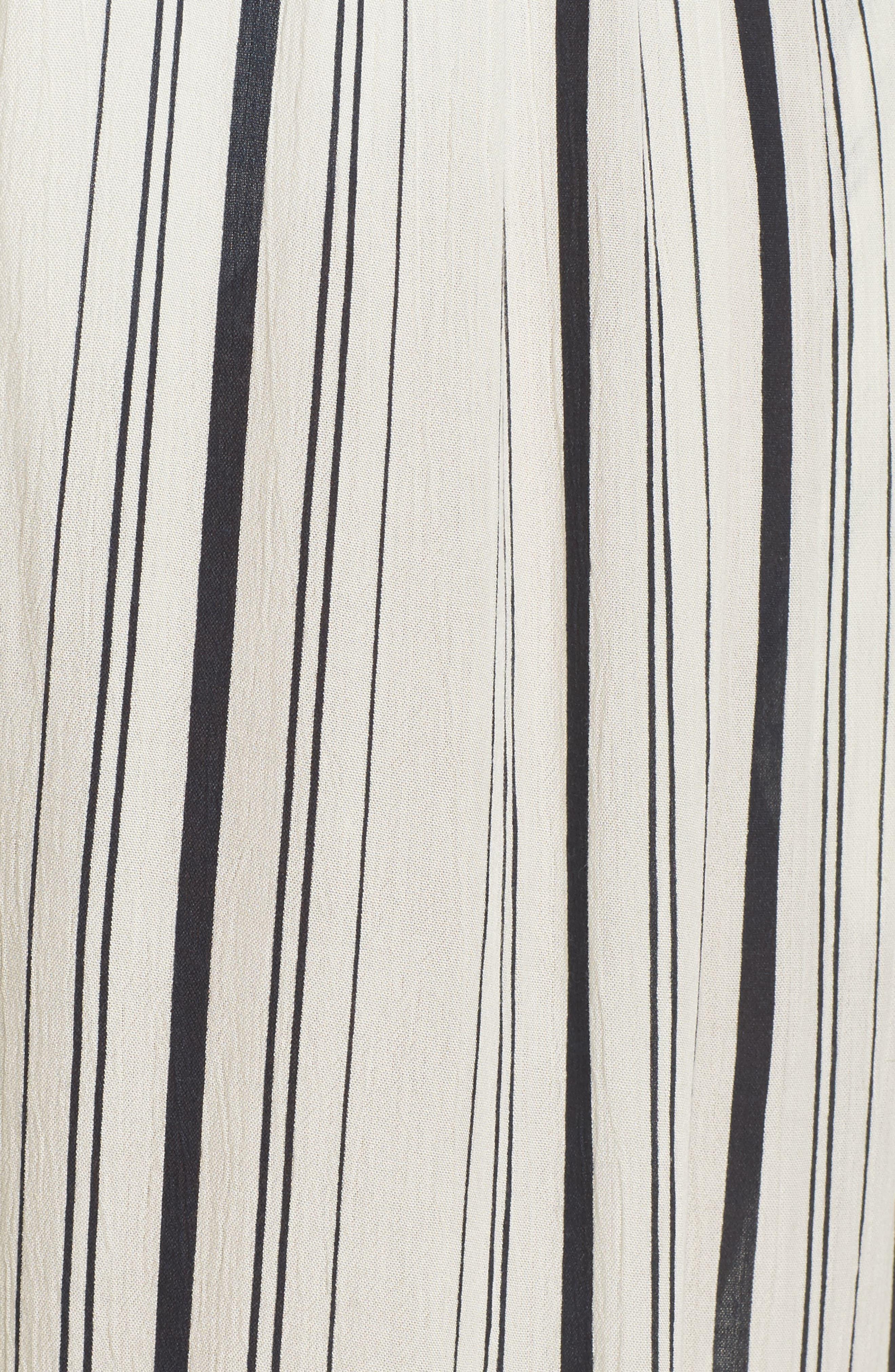 Faustine Cover-Up Jumpsuit,                             Alternate thumbnail 5, color,                             White/ Black
