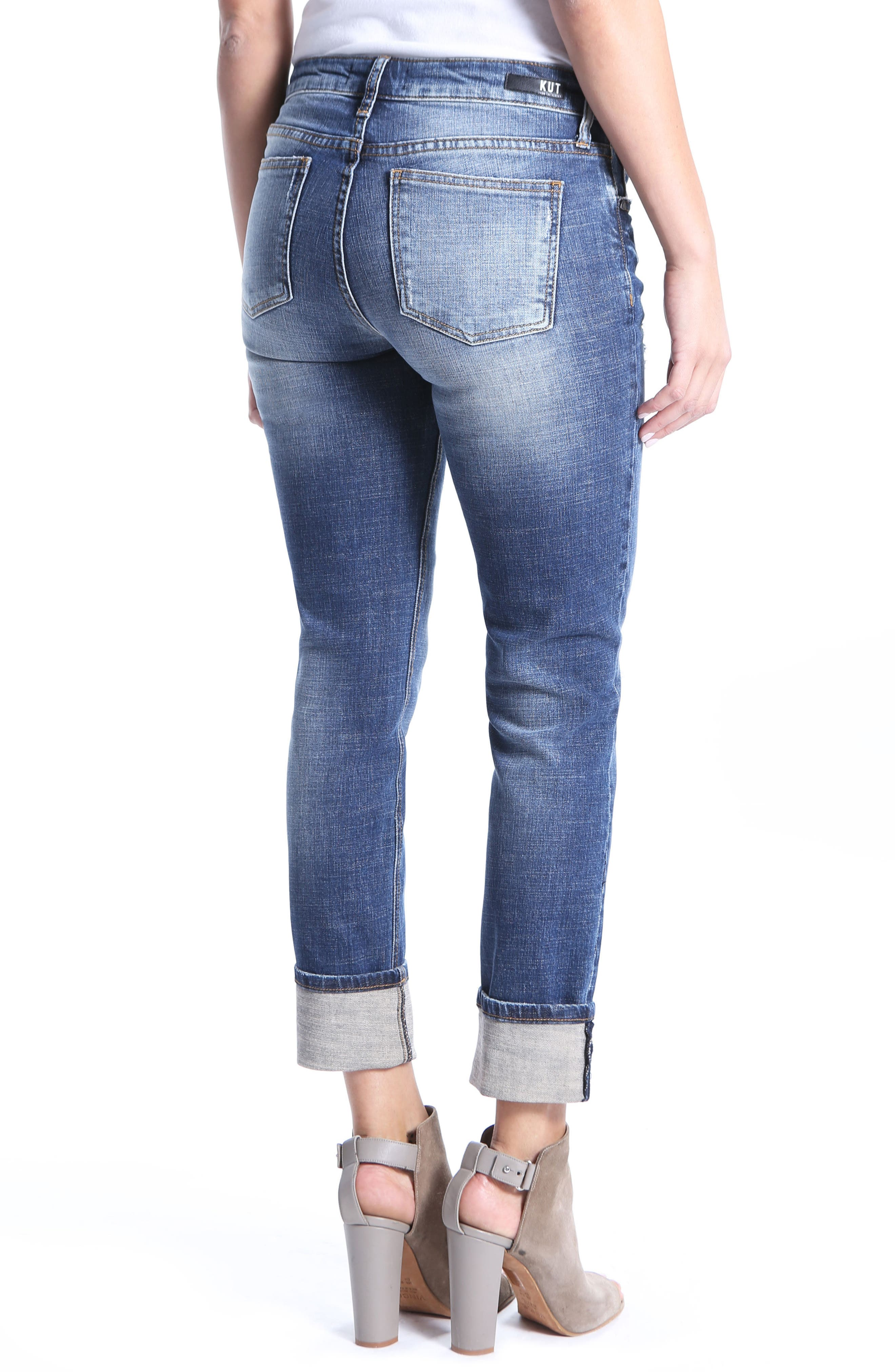 Alternate Image 2  - KUT From the Kloth Catherine Ripped Boyfriend Jeans (Impressed)