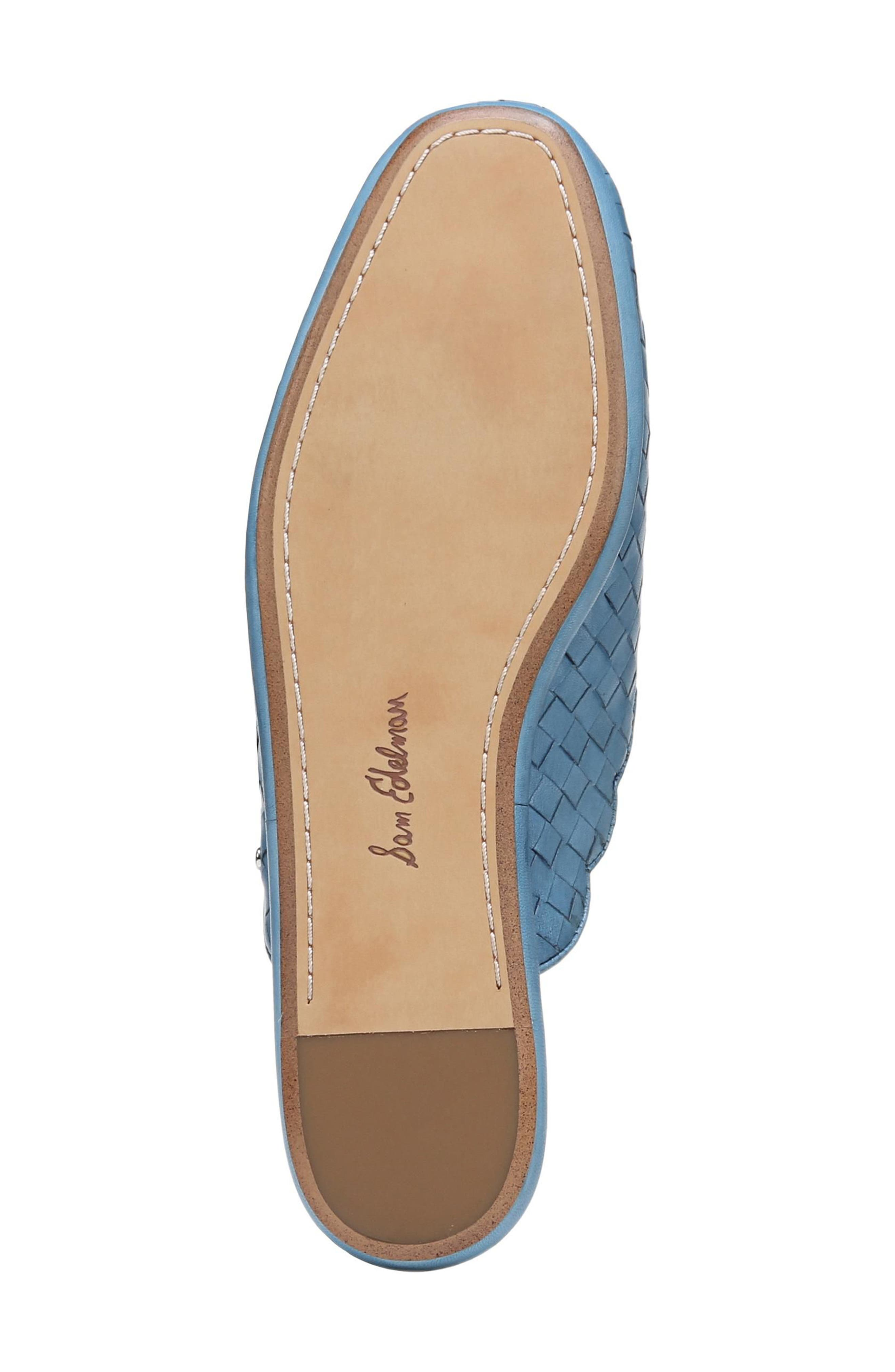 Katy Mule,                             Alternate thumbnail 6, color,                             Moroccan Blue Woven Leather