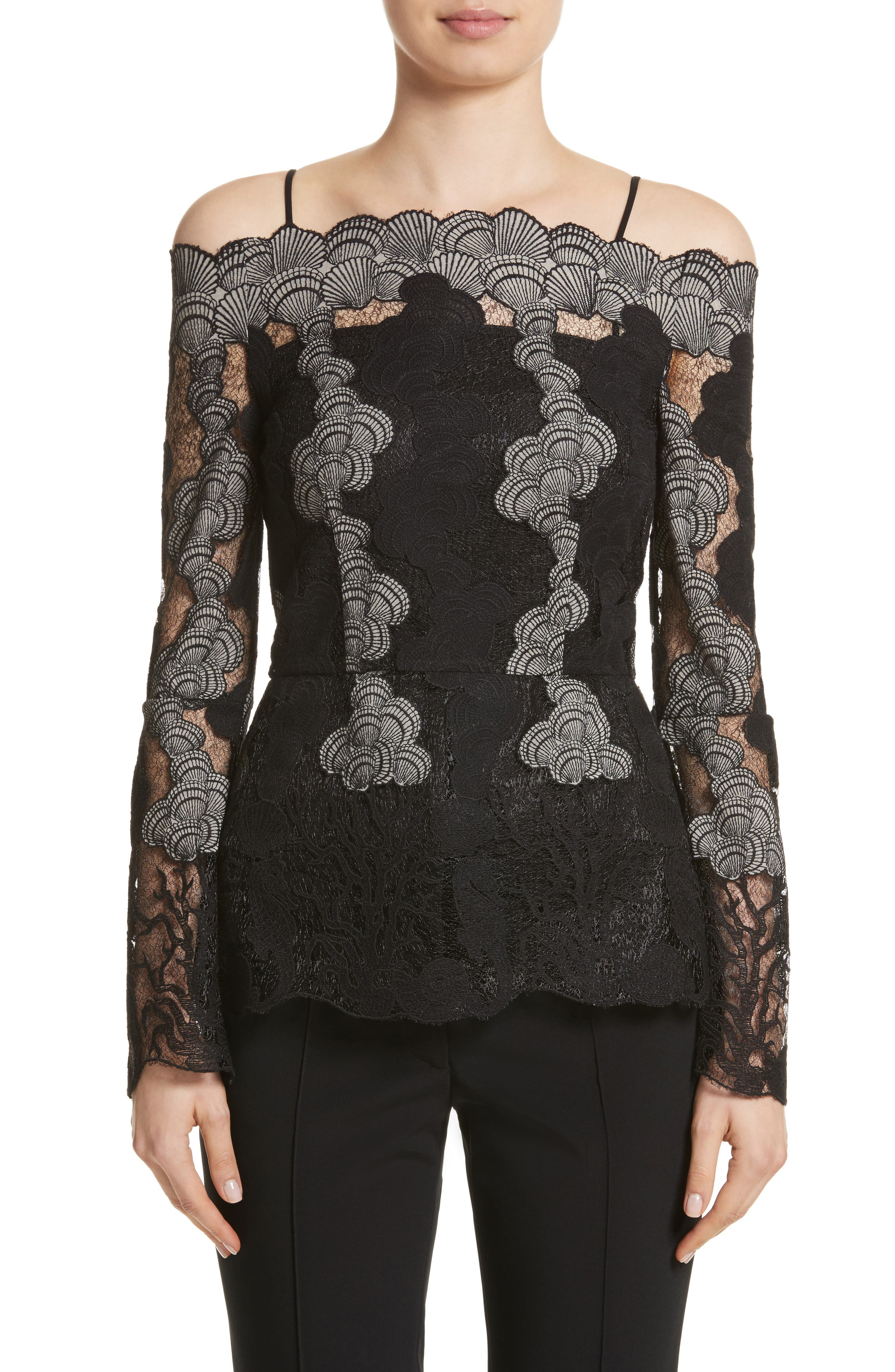 Main Image - Yigal Azrouël Sea Shell Off the Shoulder Top