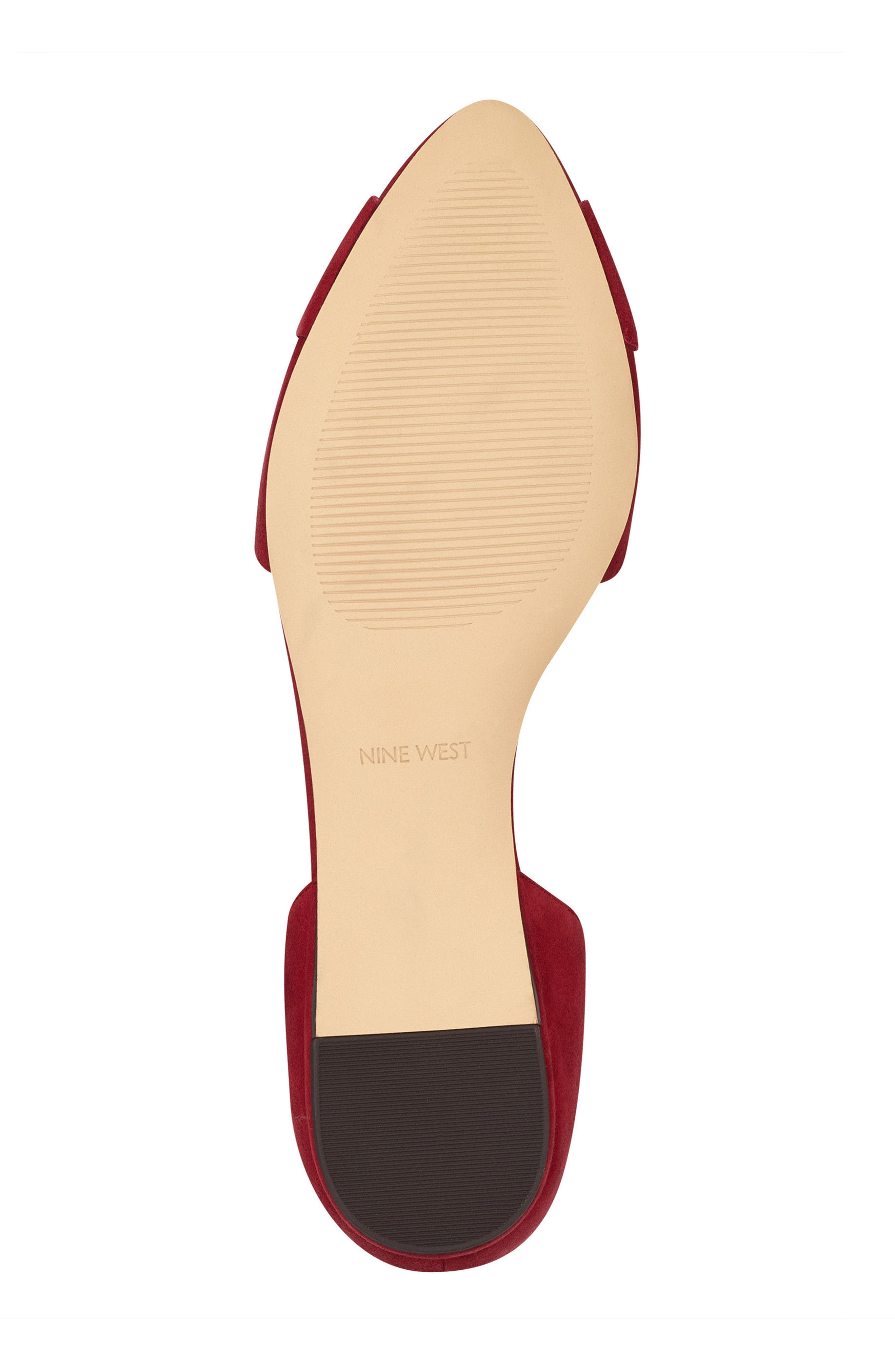 Shoreside d'Orsay Flat,                             Alternate thumbnail 6, color,                             Red Suede