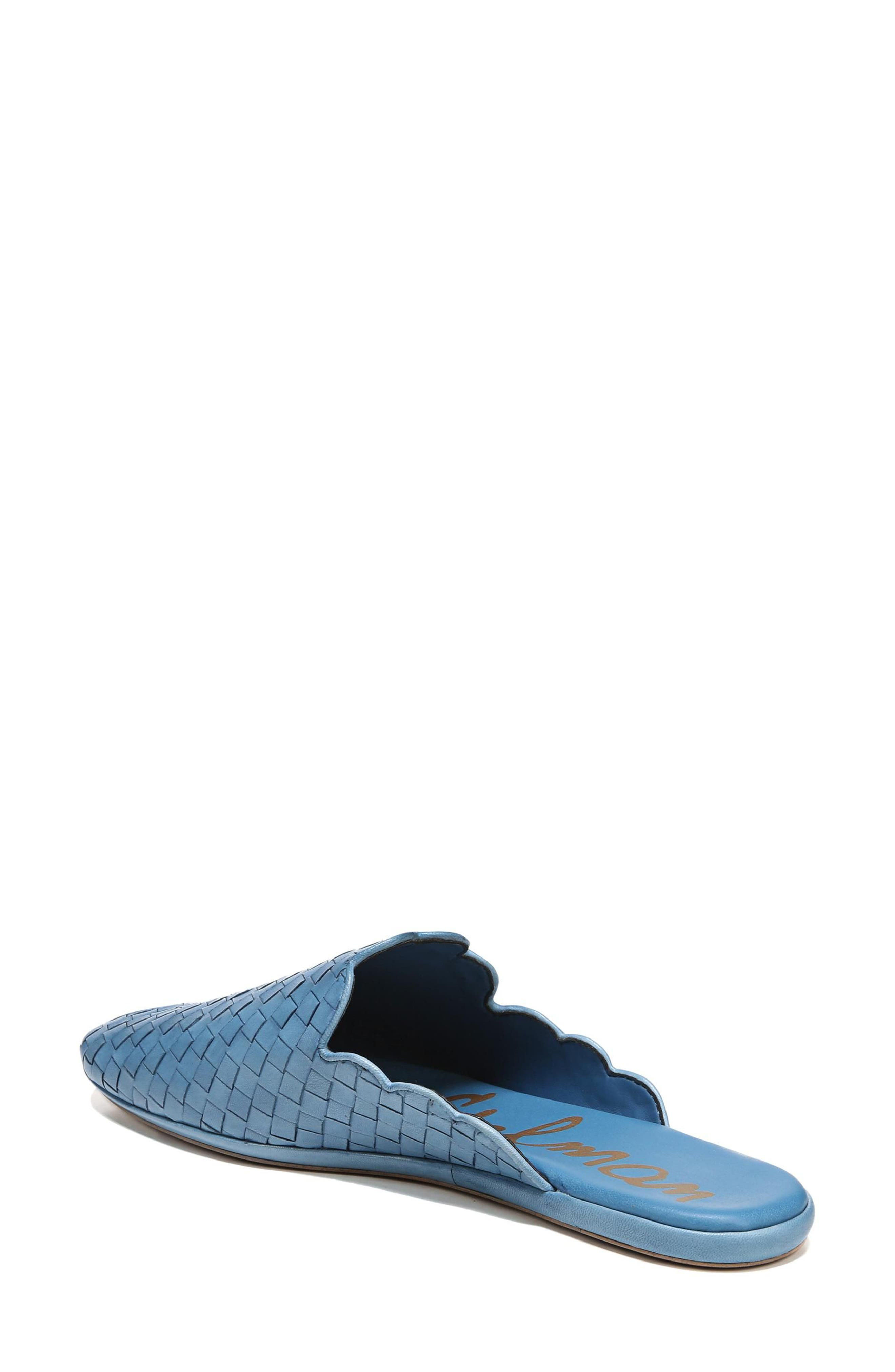 Katy Mule,                             Alternate thumbnail 2, color,                             Moroccan Blue Woven Leather