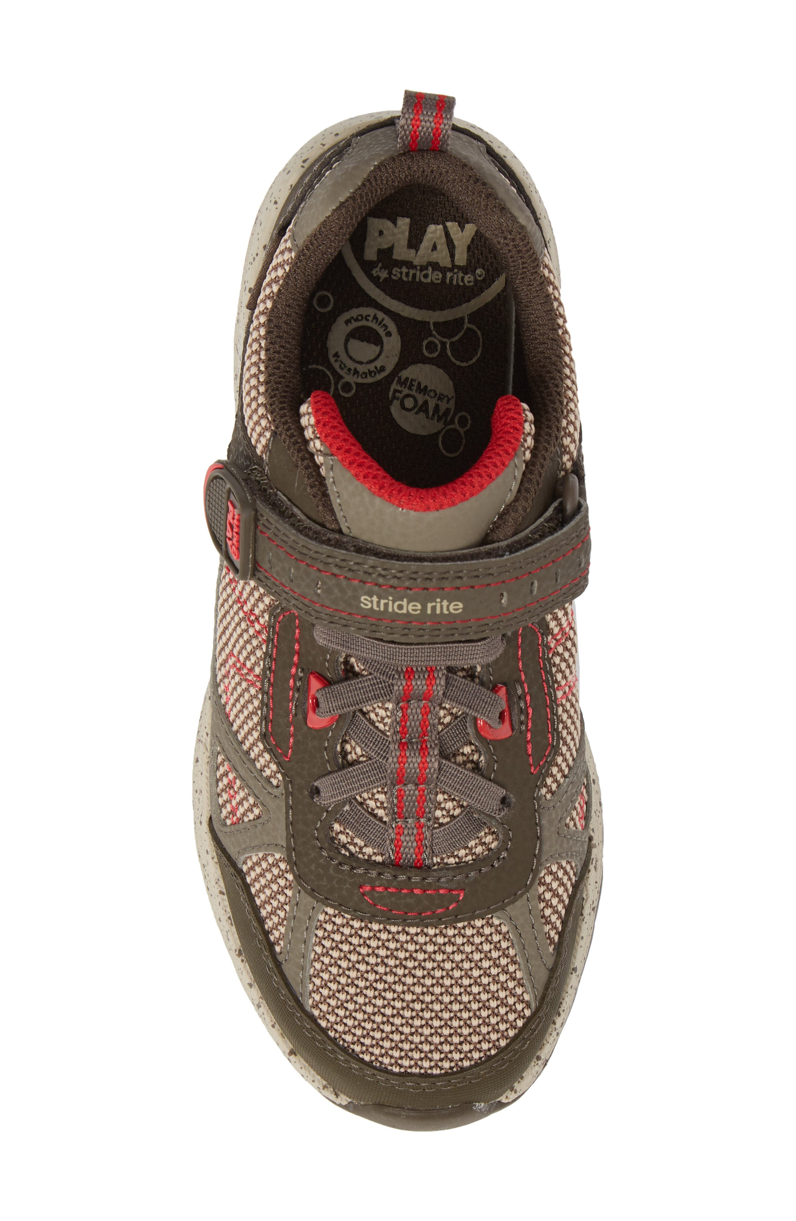 Made2Play<sup>®</sup> Owen Washable Sneaker,                             Alternate thumbnail 5, color,                             Brown Leather/ Textile