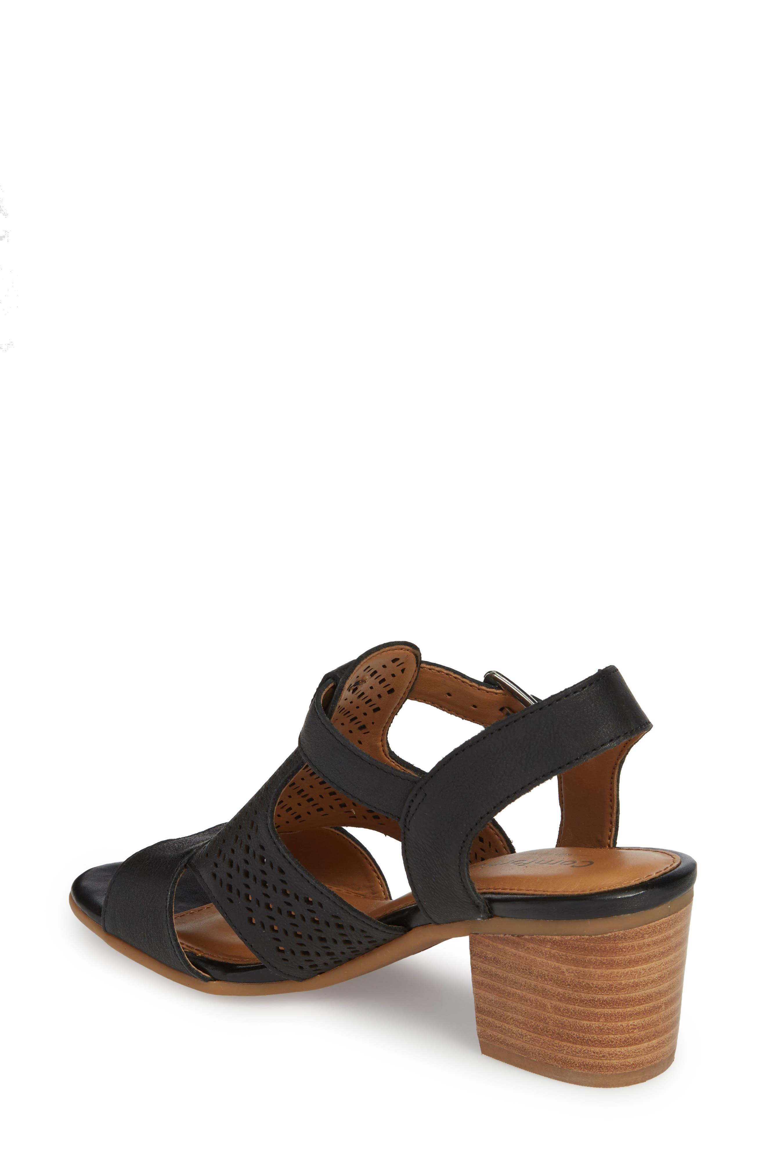 Alternate Image 2  - Comfortiva Amber Perforated Block Heel Sandal (Women)