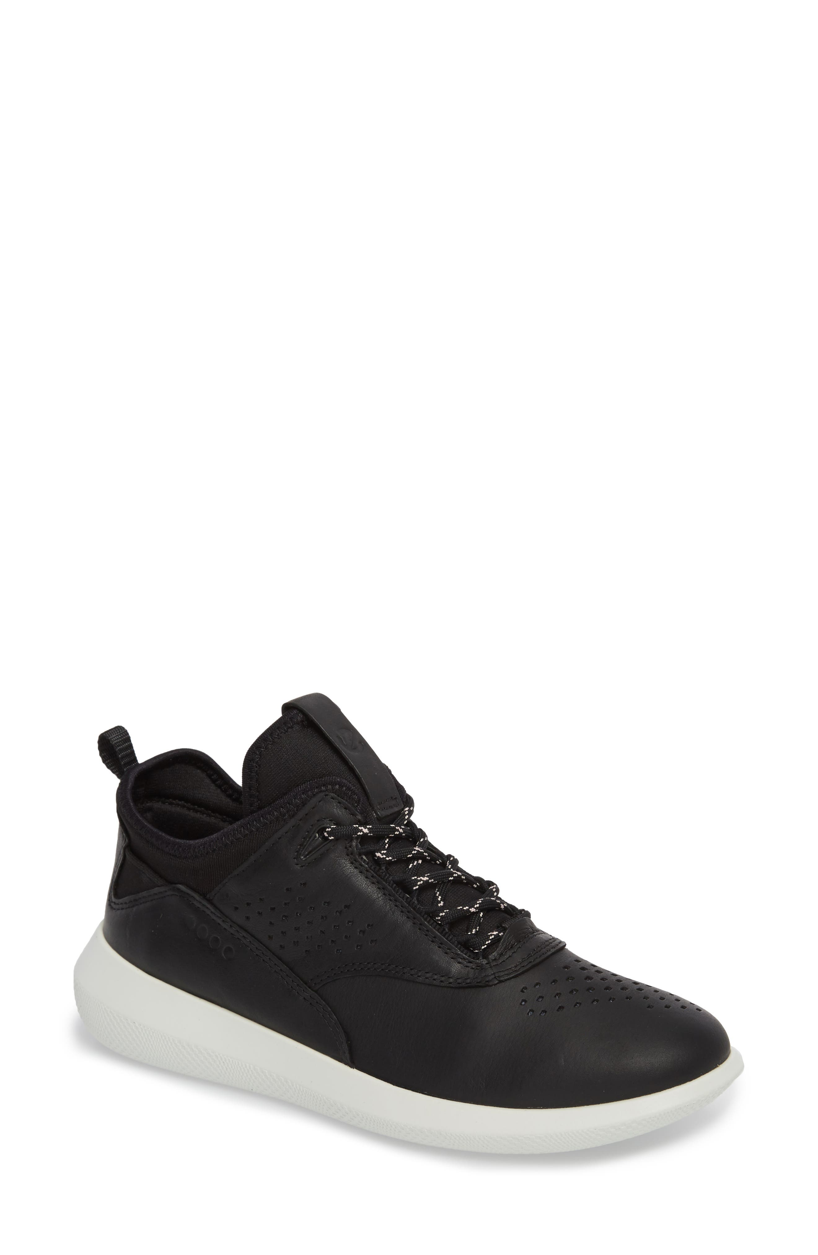 Scinapse Sneaker,                         Main,                         color, Black Leather
