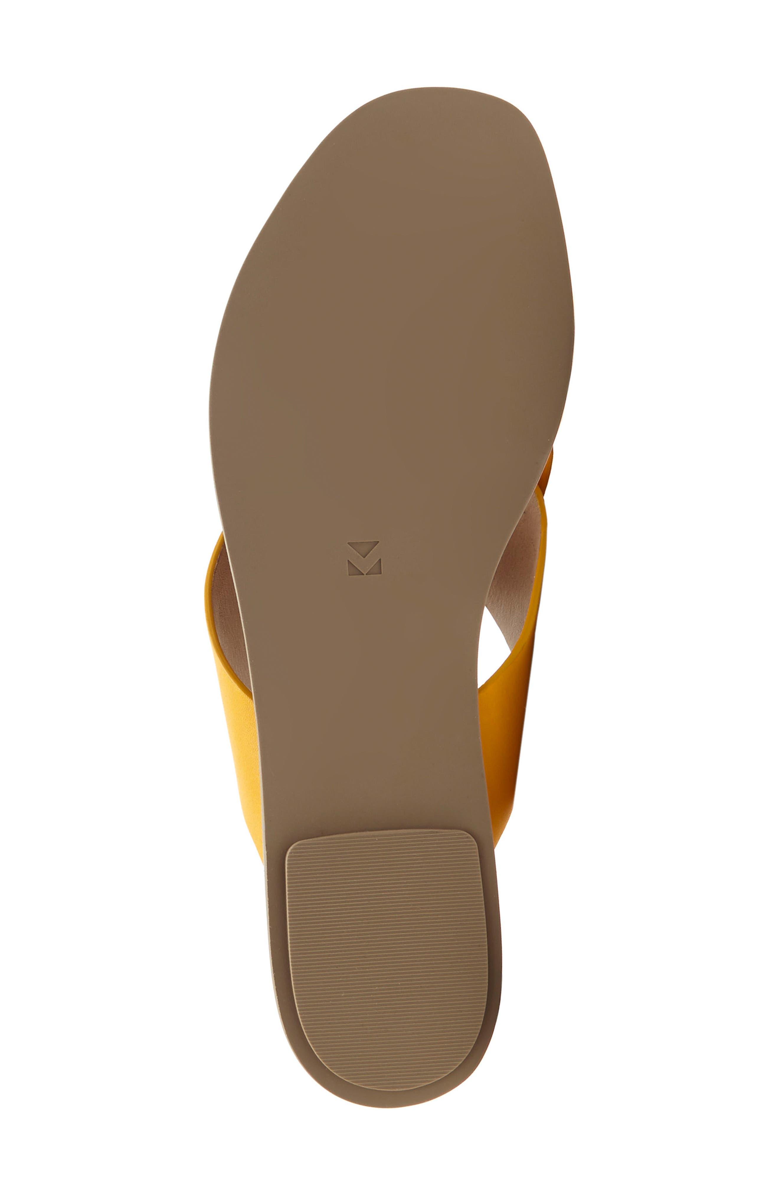 Carlein Slide Sandal,                             Alternate thumbnail 5, color,                             Mustard Leather