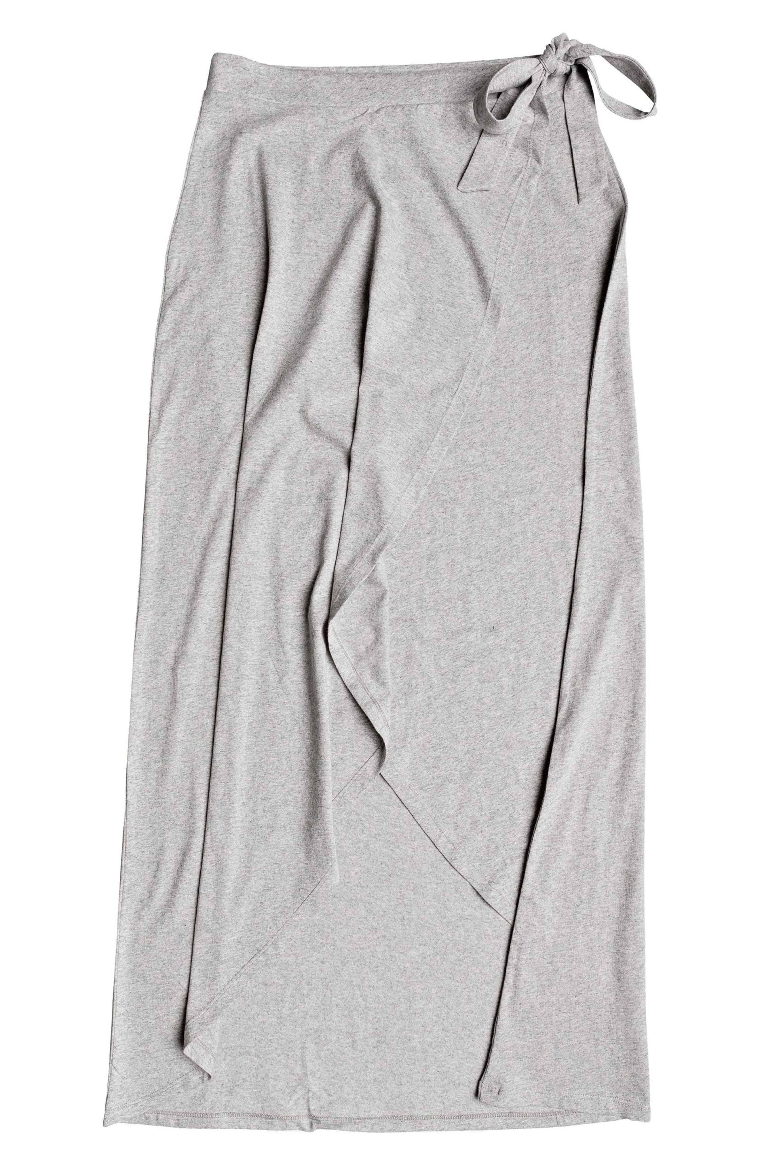 Everlasting Afternoon Long Wrap Skirt,                             Alternate thumbnail 5, color,                             Heritage Heather