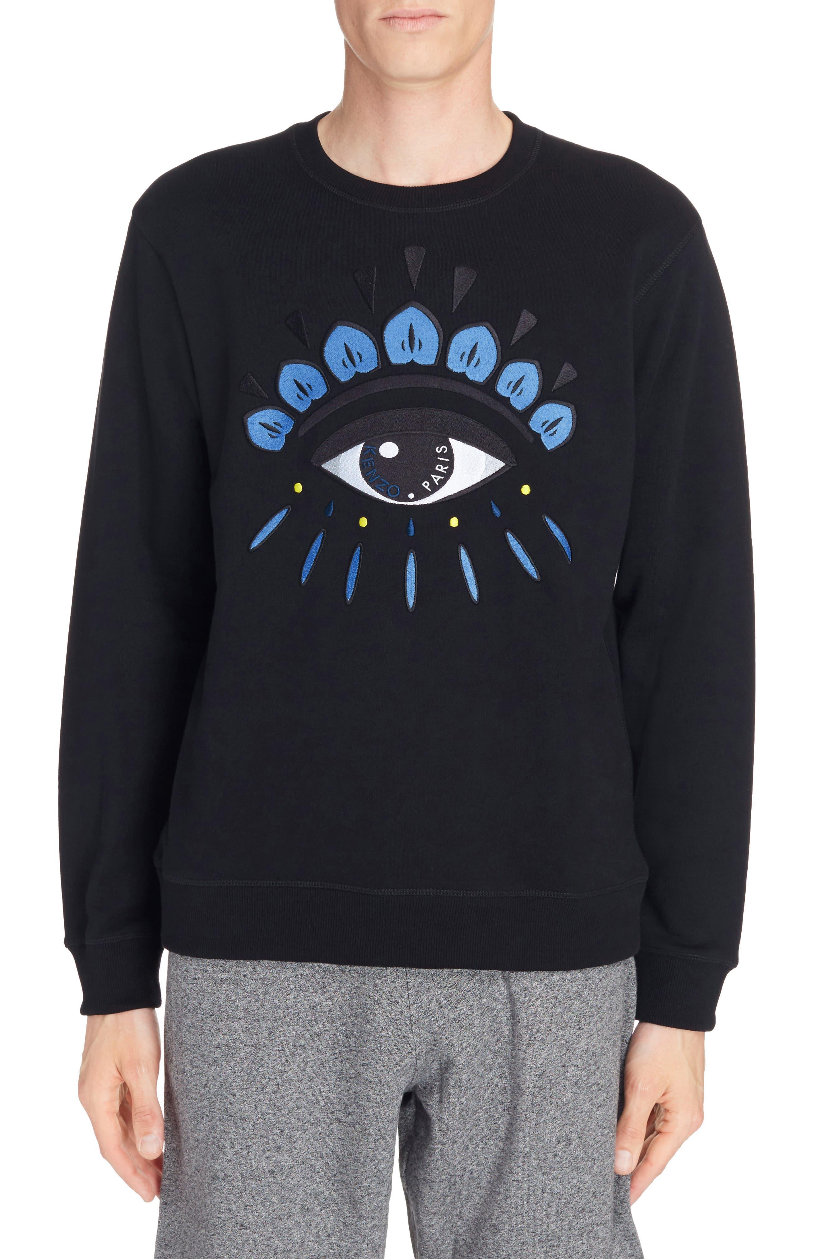 Embroidered Eye Sweatshirt,                         Main,                         color, Black