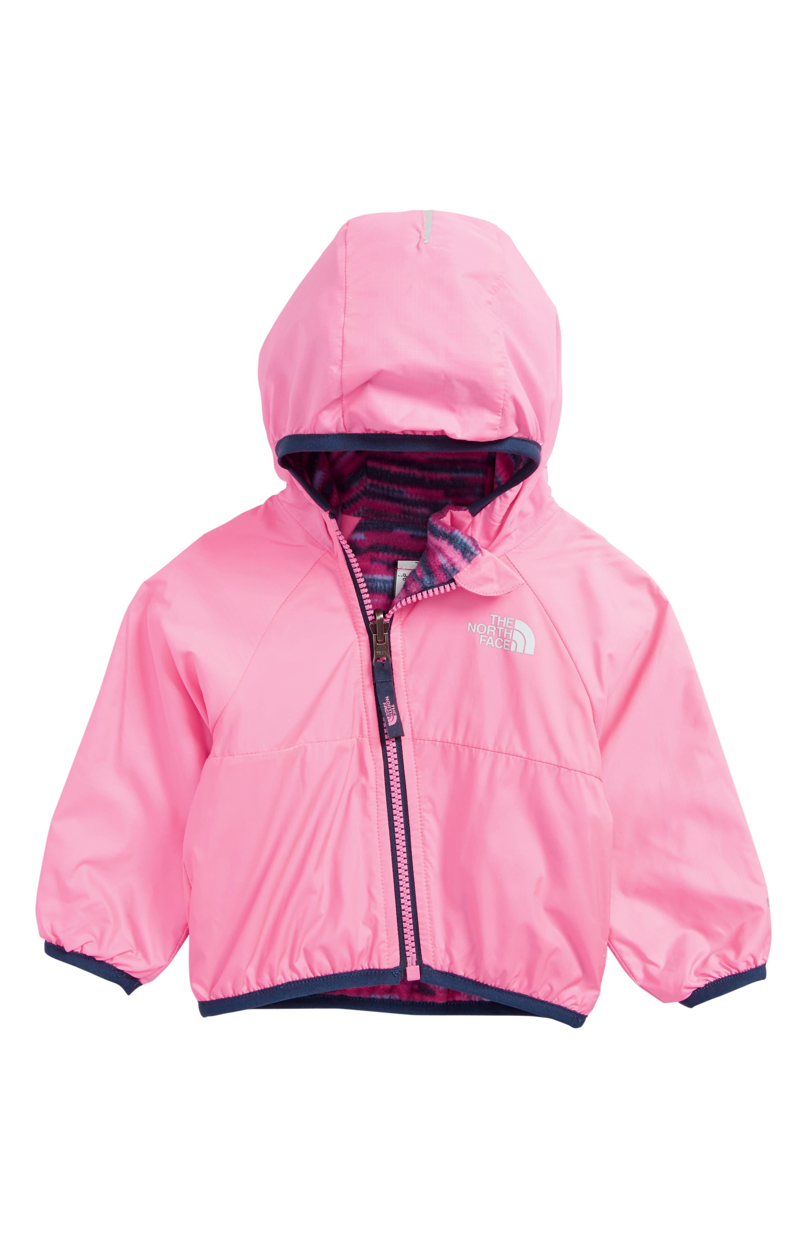 Breezeway Reversible Water Repellent Windbreaker Jacket,                         Main,                         color, Gem Pink