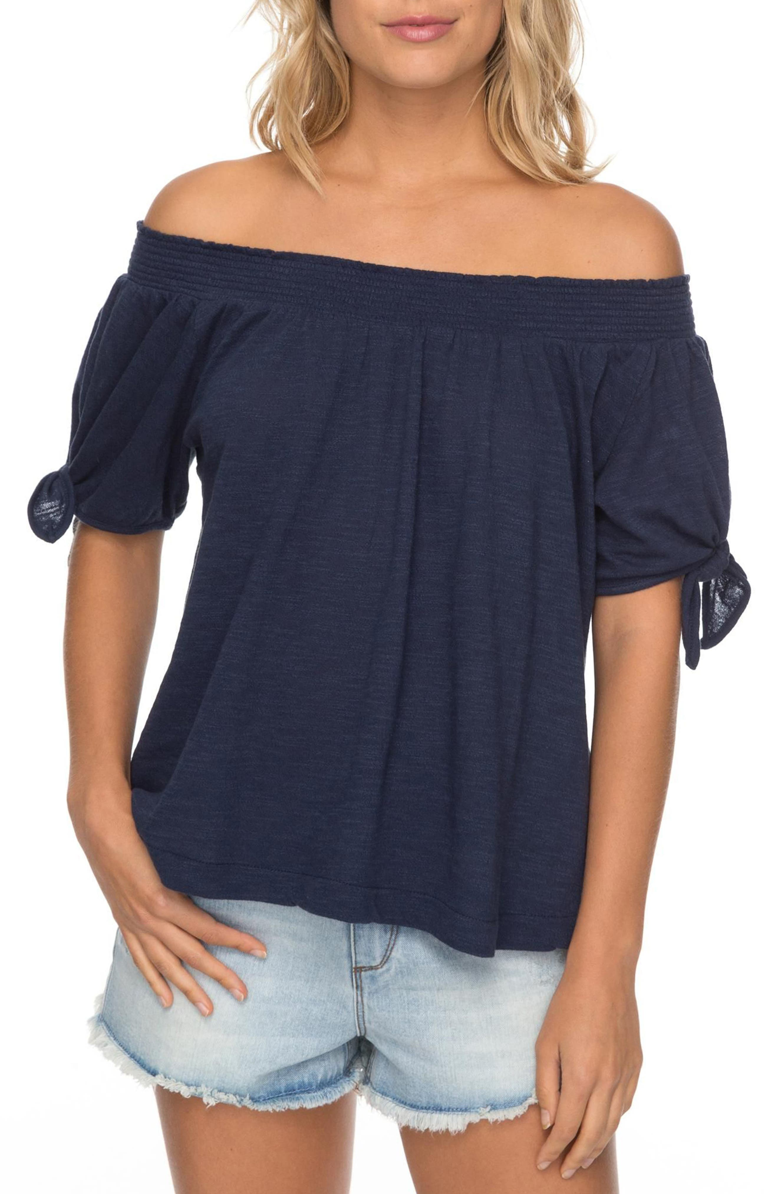 Roxy Caribbean Mood Off the Shoulder Top