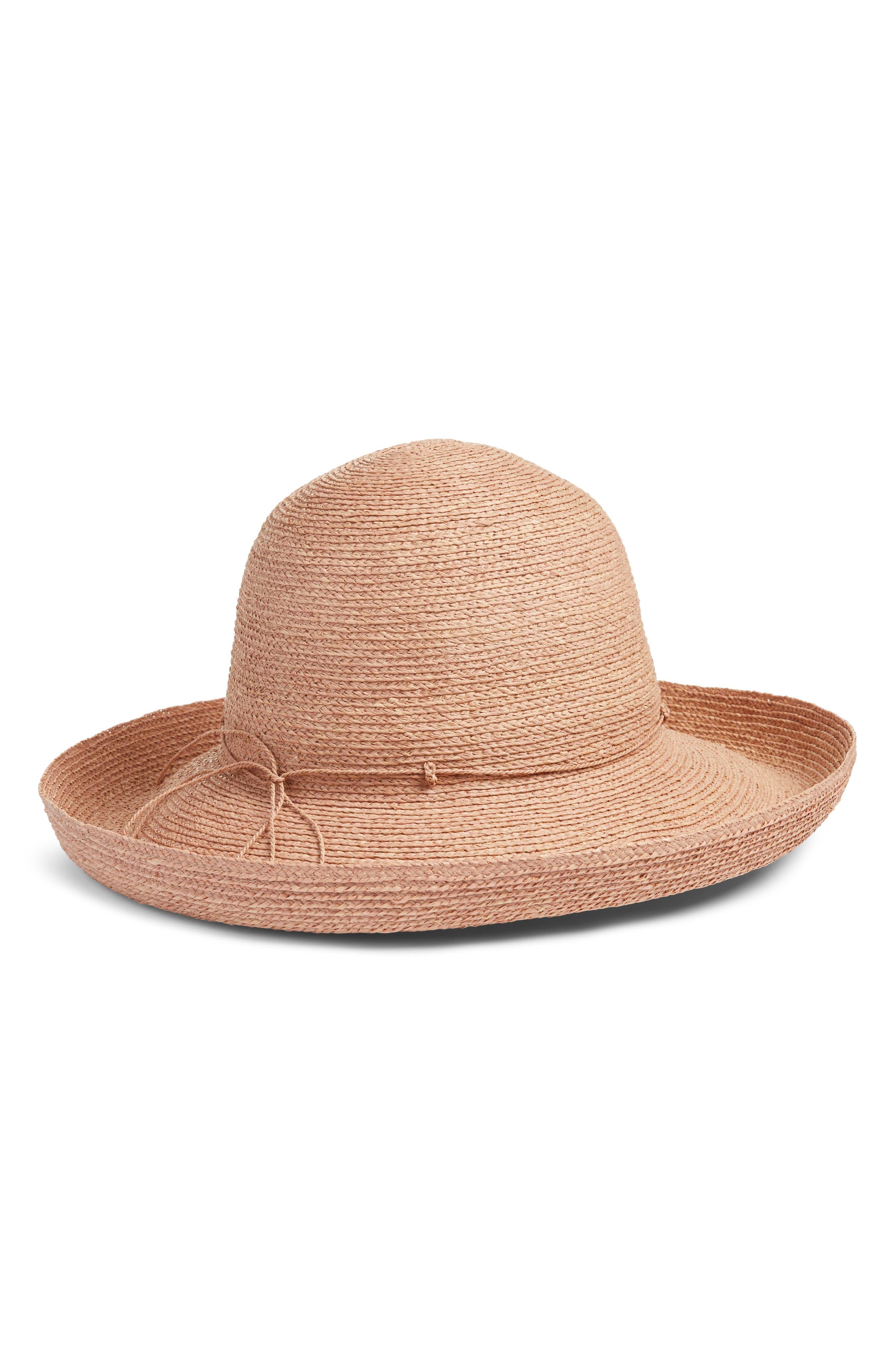 Alternate Image 1 Selected - Helen Kaminski Rolled Brim Raffia Hat