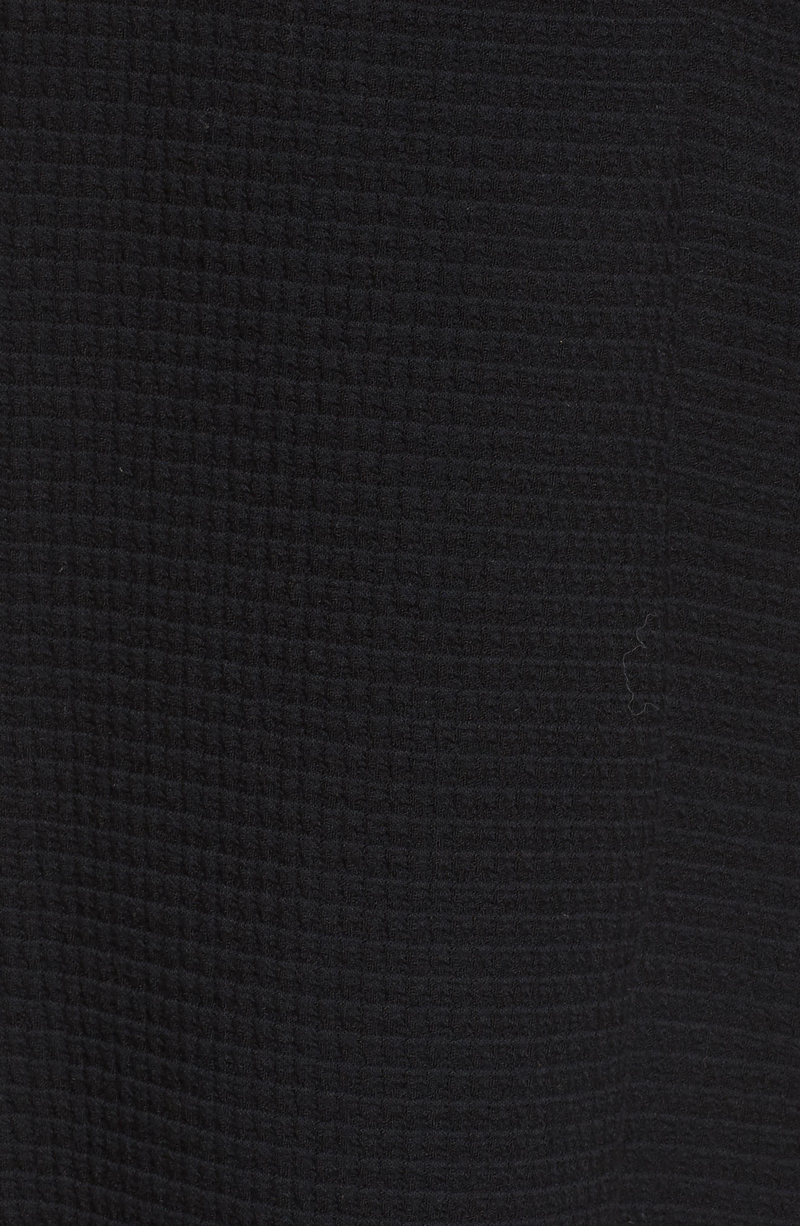 Long Jacquard Jacket,                             Alternate thumbnail 5, color,                             Black