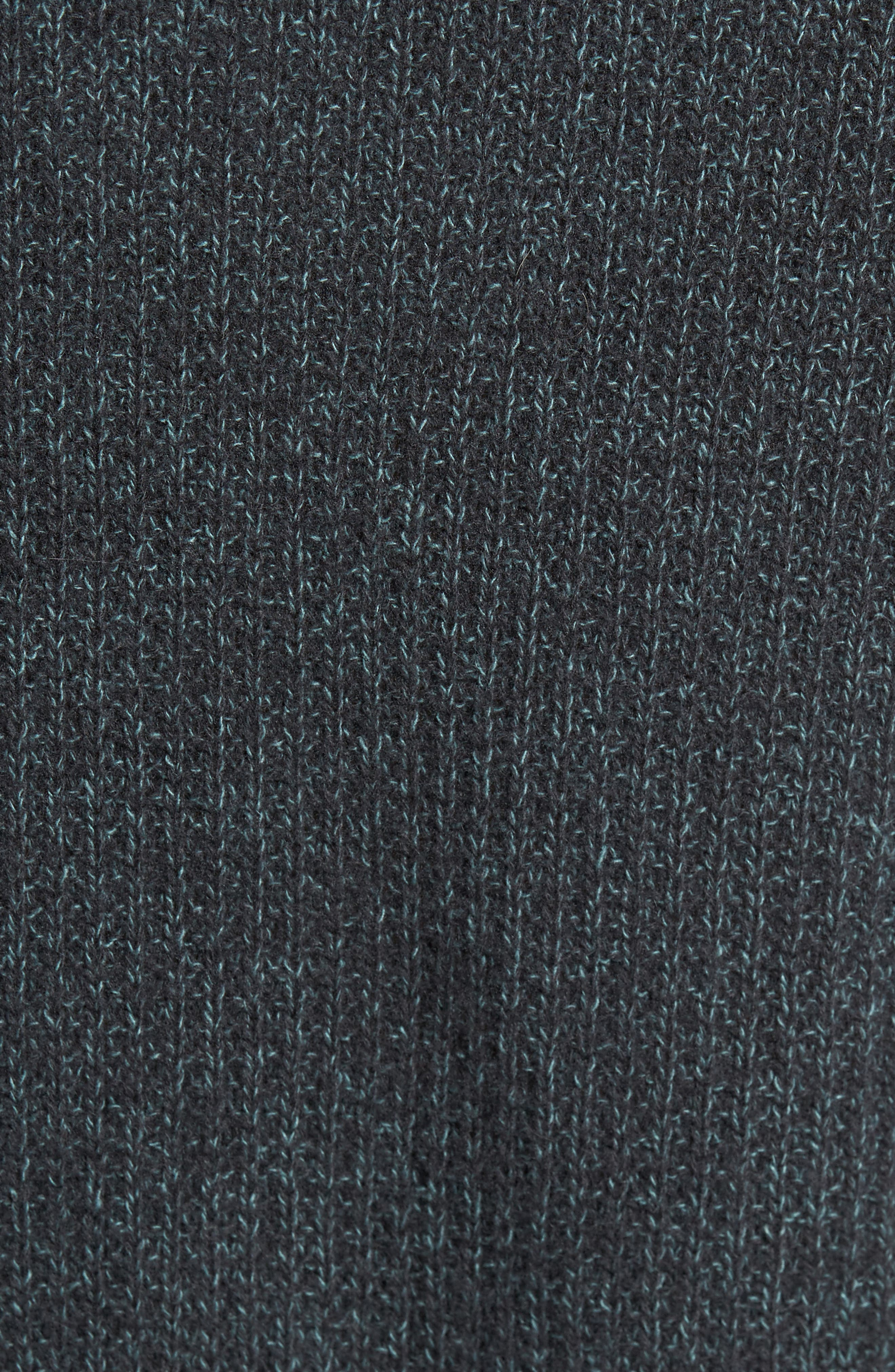 Thermal Knit Crewneck Cashmere Sweater,                             Alternate thumbnail 5, color,                             Beetle/ Mint