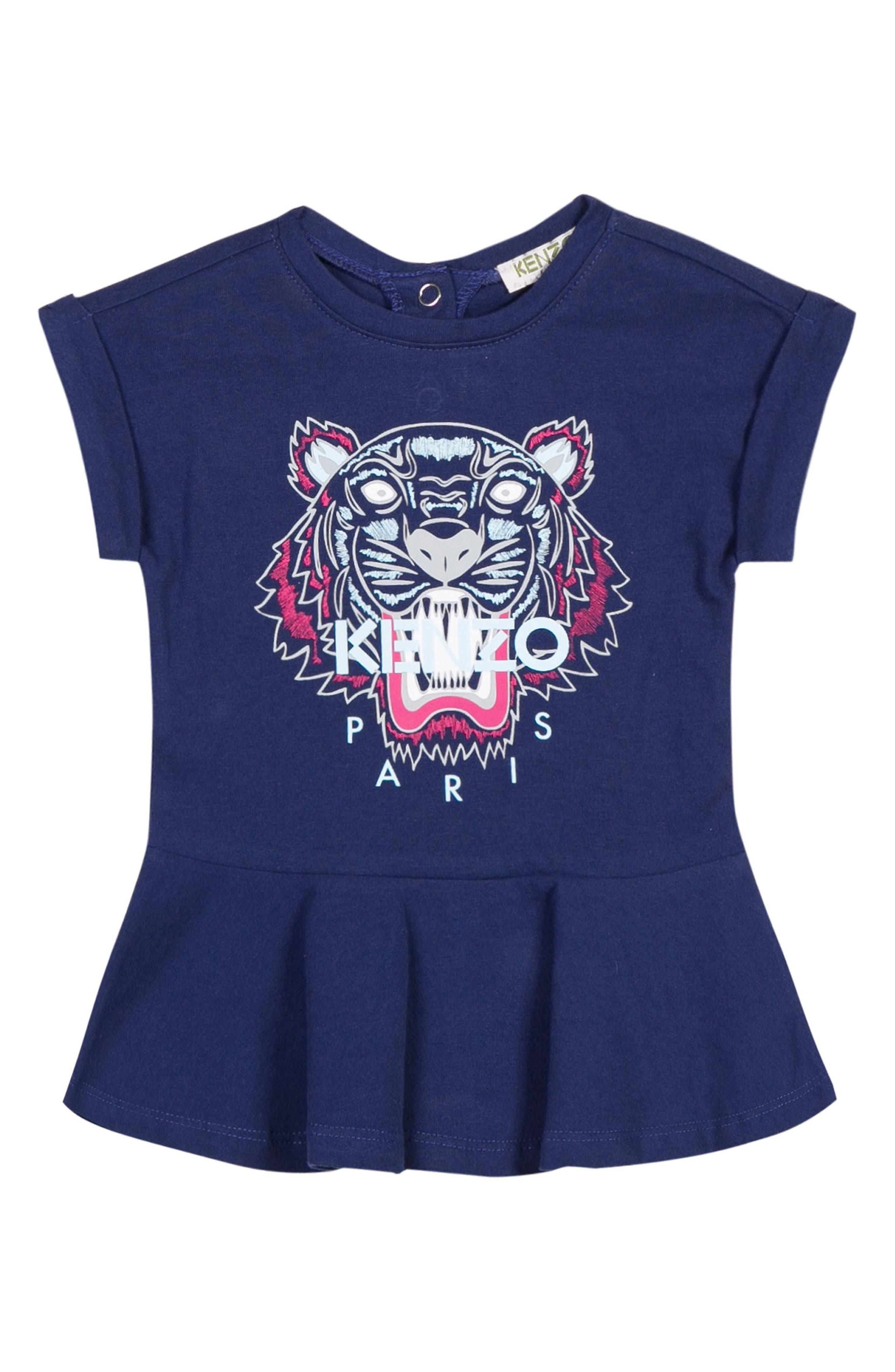 KENZO Tiger Logo Skater Dress (Baby Girls)