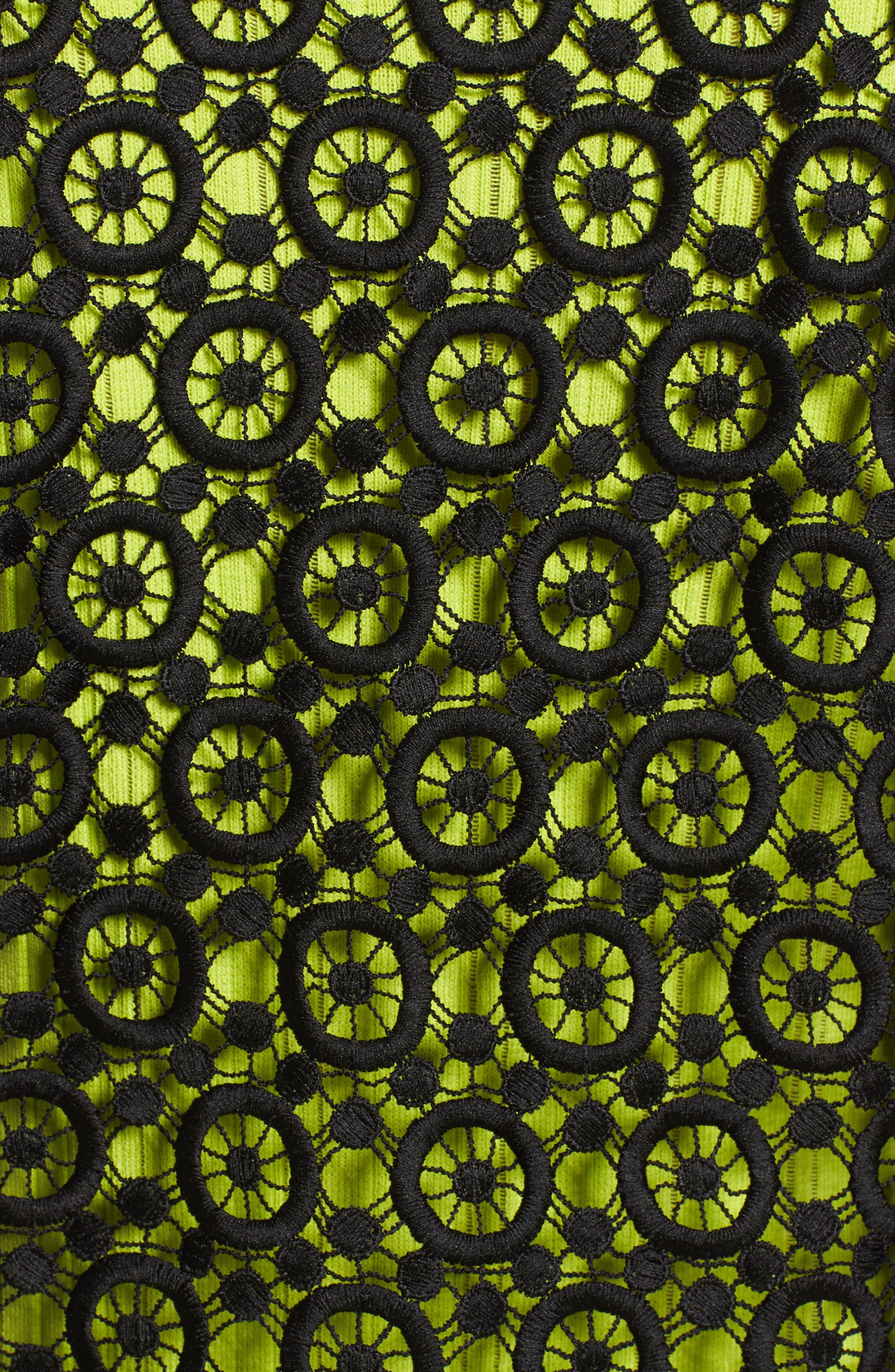 Pointelle Zip Front Jacket,                             Alternate thumbnail 5, color,                             Black