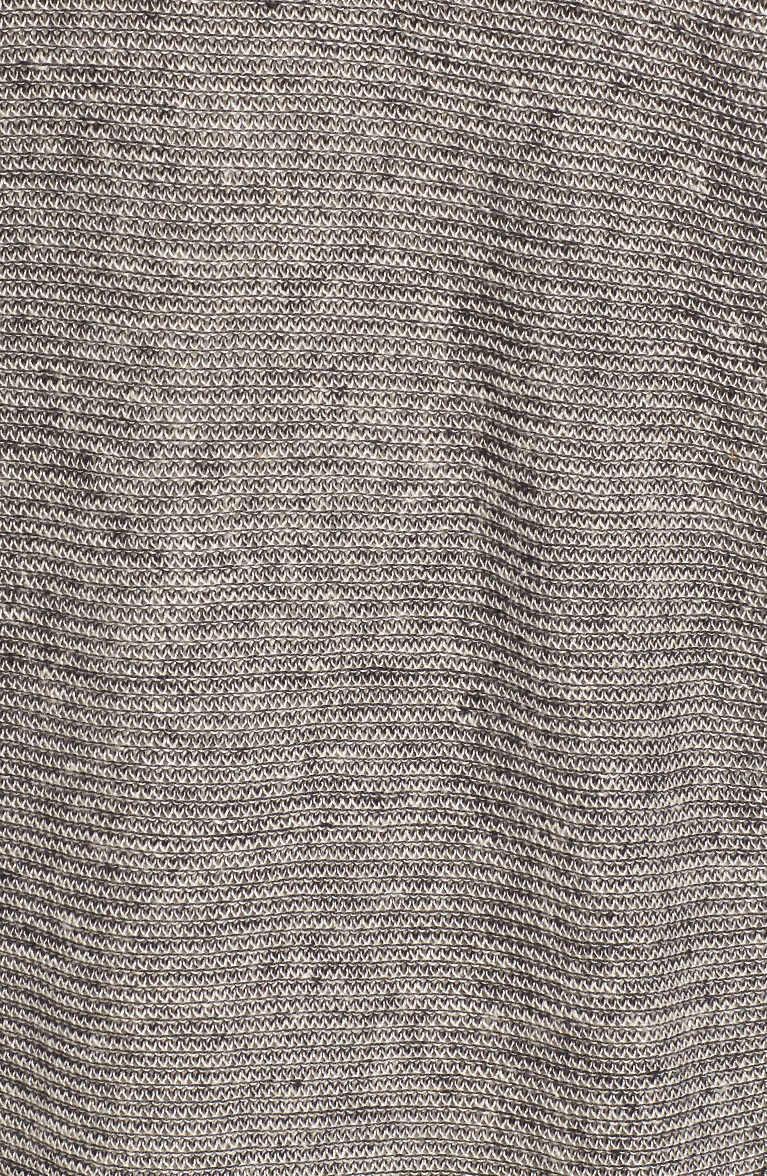 Long Linen Cardigan,                             Alternate thumbnail 5, color,                             Black Natural