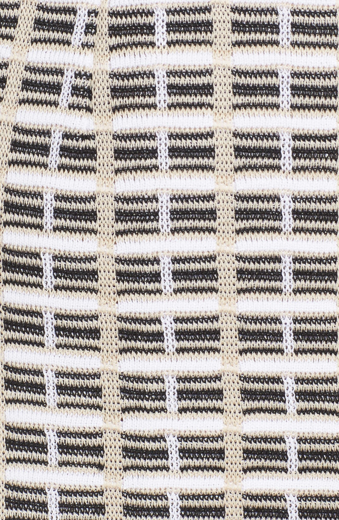 Geometric Jacquard Jacket,                             Alternate thumbnail 5, color,                             Twig/ Black/ White