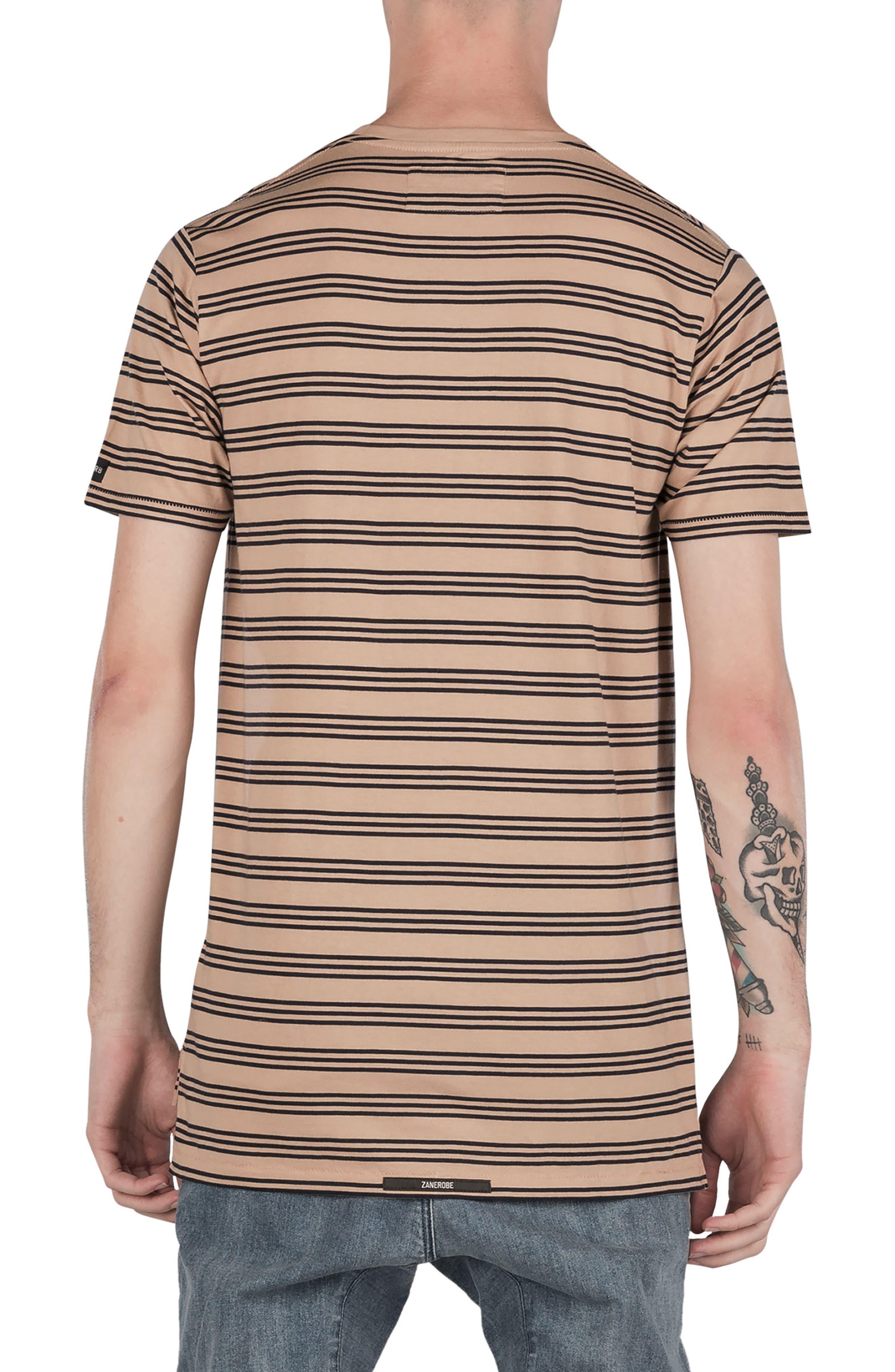 Flintlock Stripe T-Shirt,                             Alternate thumbnail 2, color,                             Wheat/ Navy