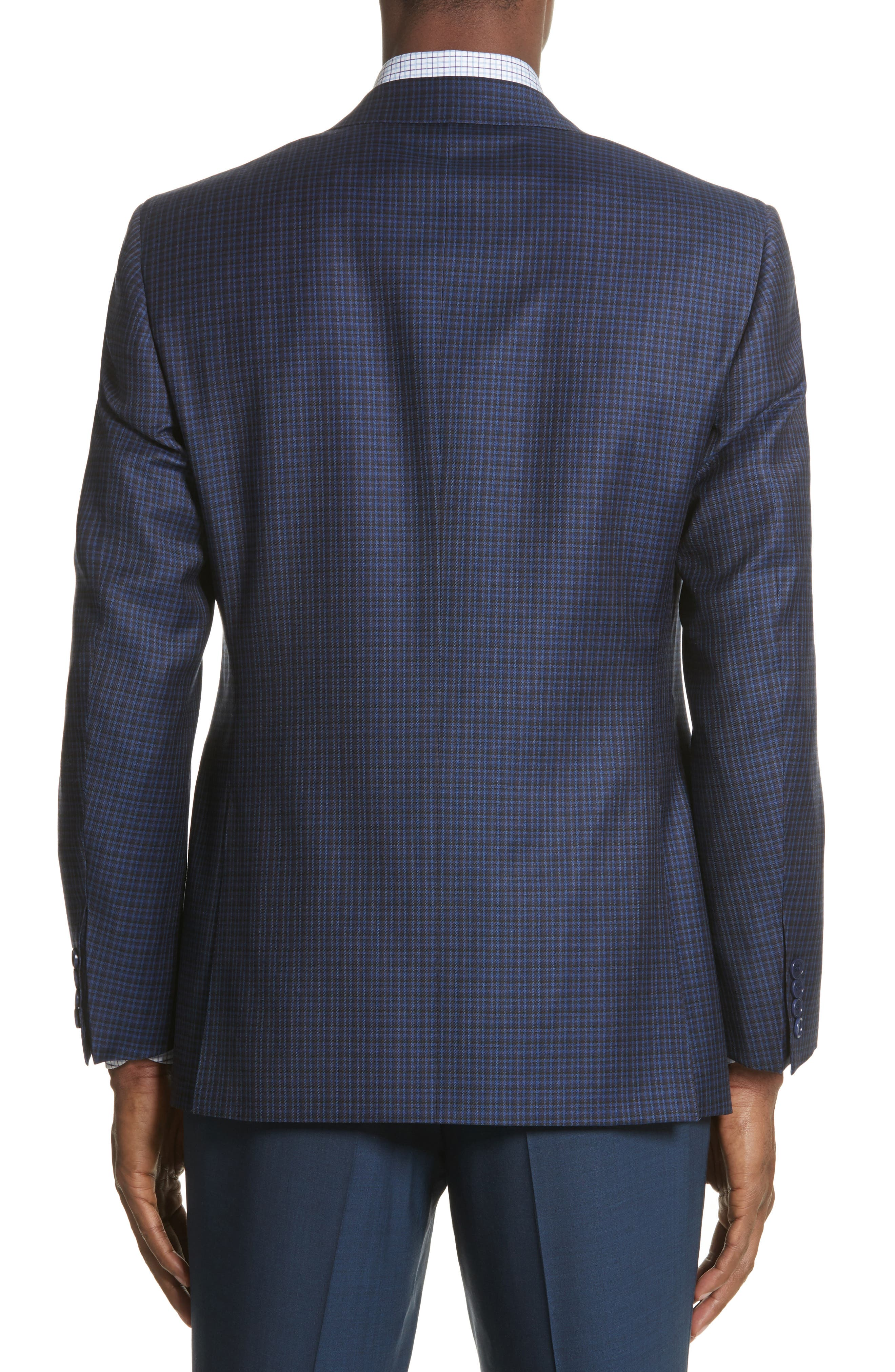 Alternate Image 2  - Canali Classic Fit Check Wool Sport Coat