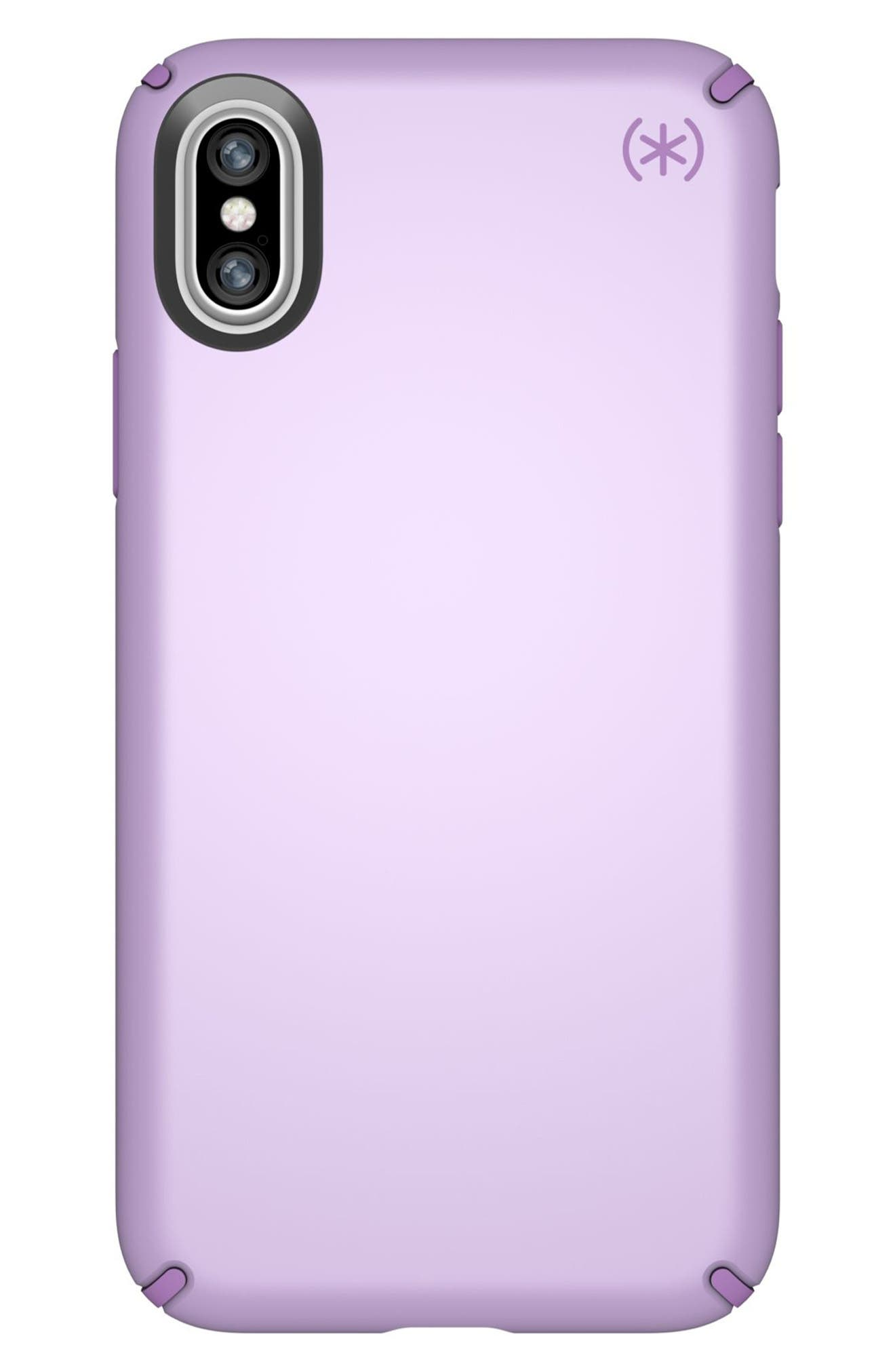 iPhone X Case,                         Main,                         color, Taro Purple Metallic/ Purple