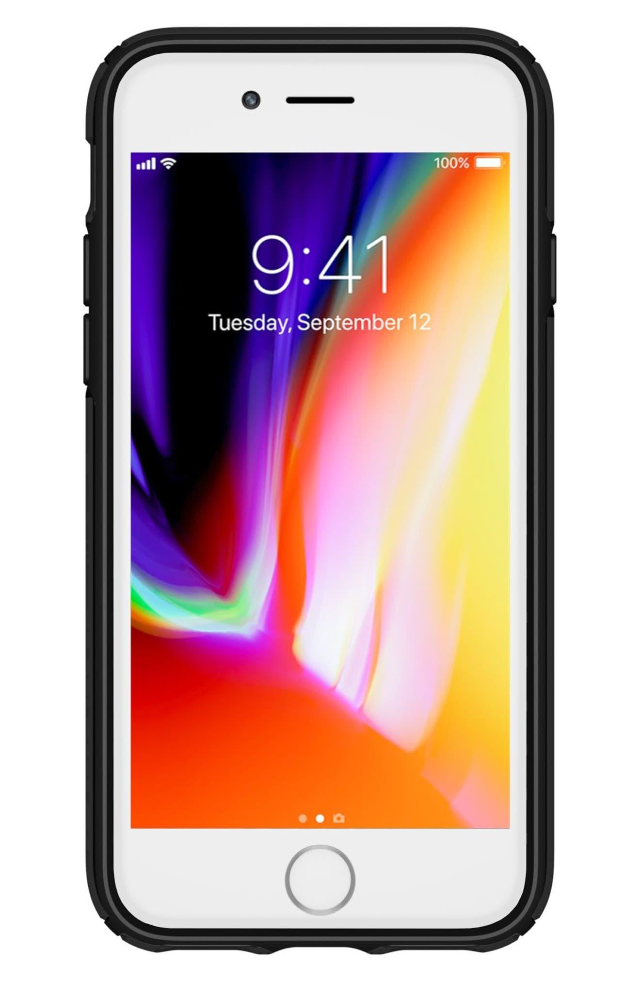 Transparent iPhone 6/6s/7/8 Case,                             Alternate thumbnail 2, color,                             Clear/ Black