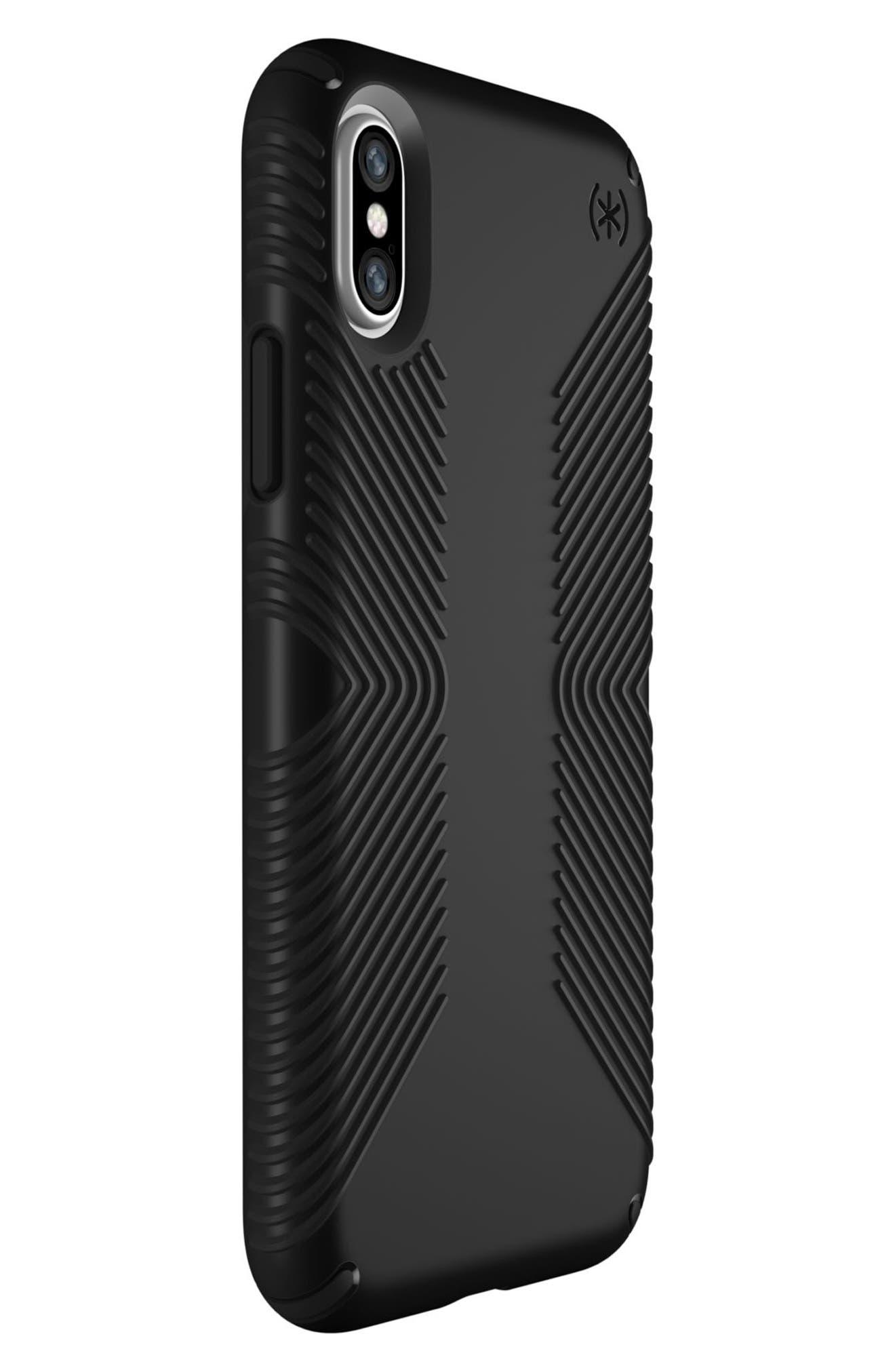 iPhone X Case,                             Alternate thumbnail 2, color,                             Black/ Black