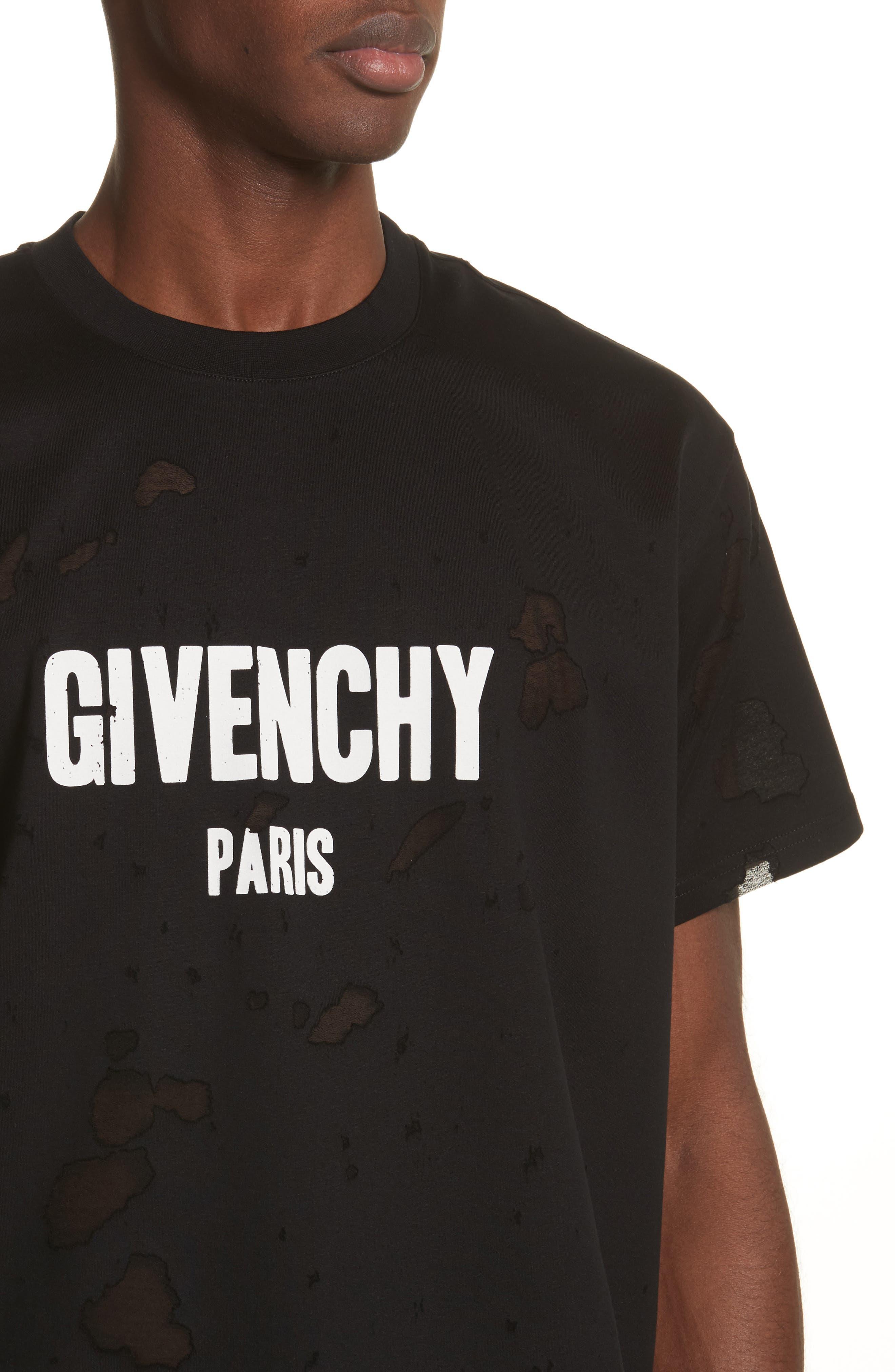 Alternate Image 4  - Givenchy Destroyed Logo Graphic T-Shirt