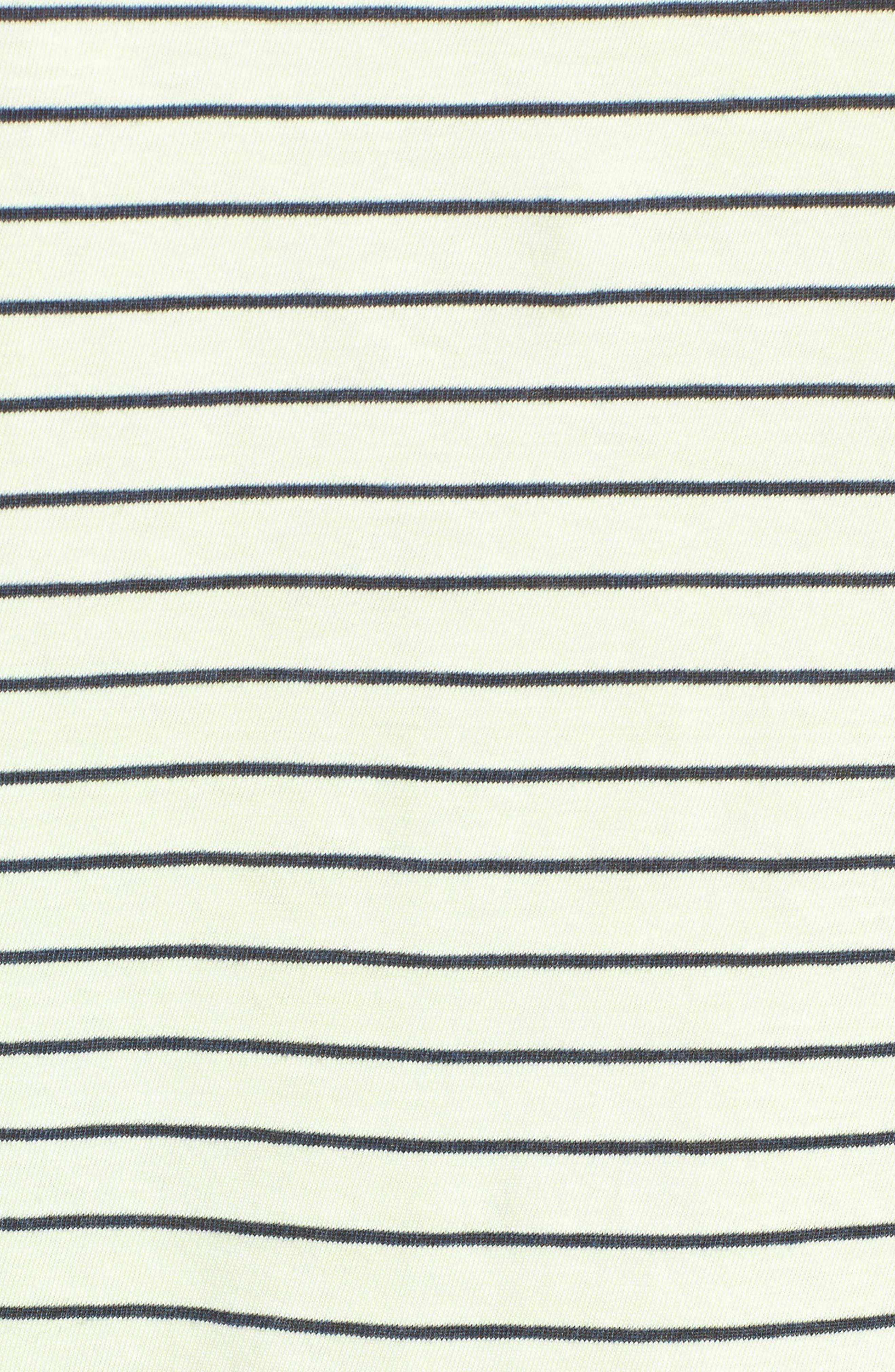 Stripe Ruffle Sleeve Tee,                             Alternate thumbnail 5, color,                             Yellow Glow