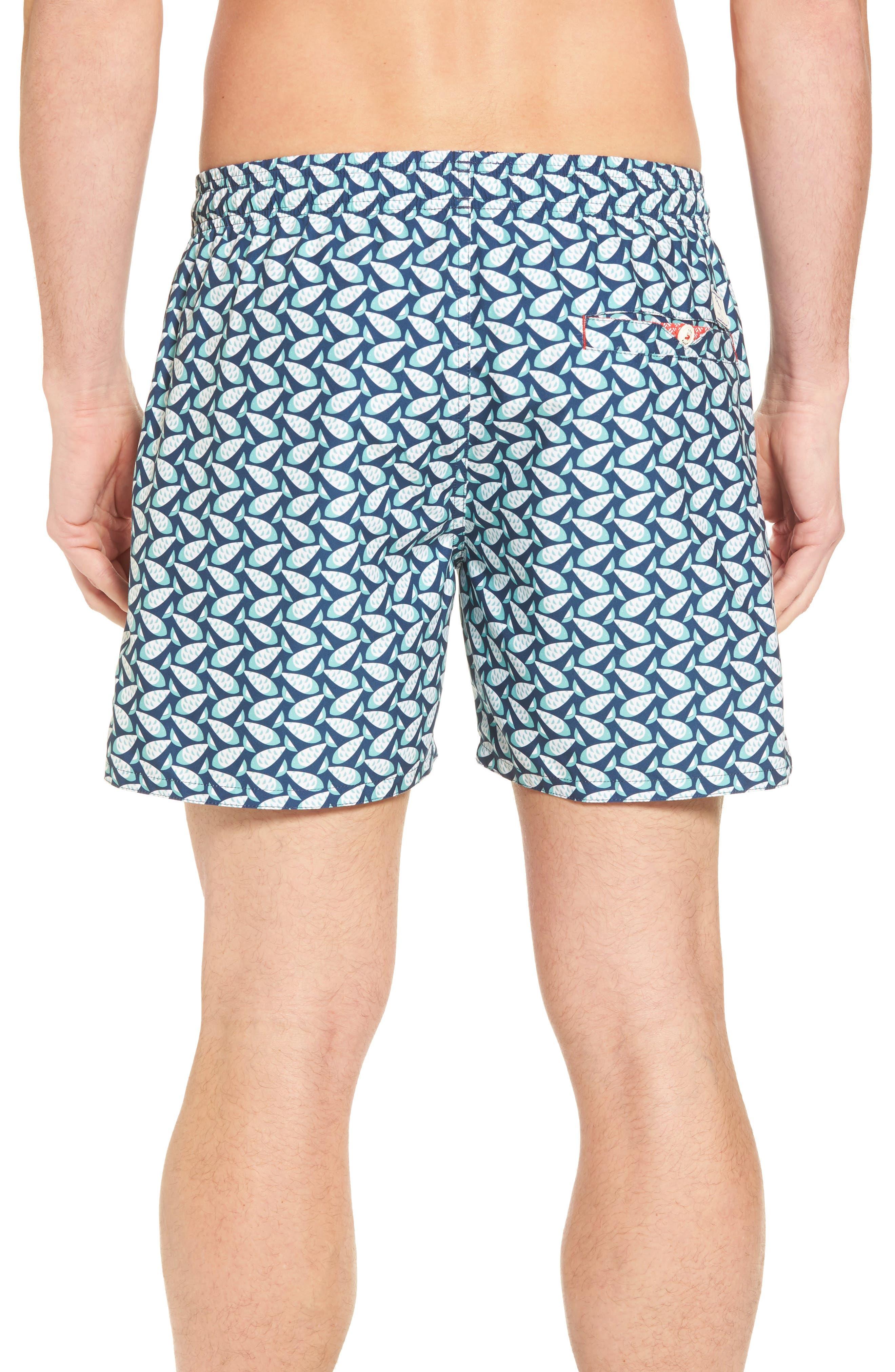 Loxham Fish Geo Print Swim Short,                             Alternate thumbnail 2, color,                             Navy