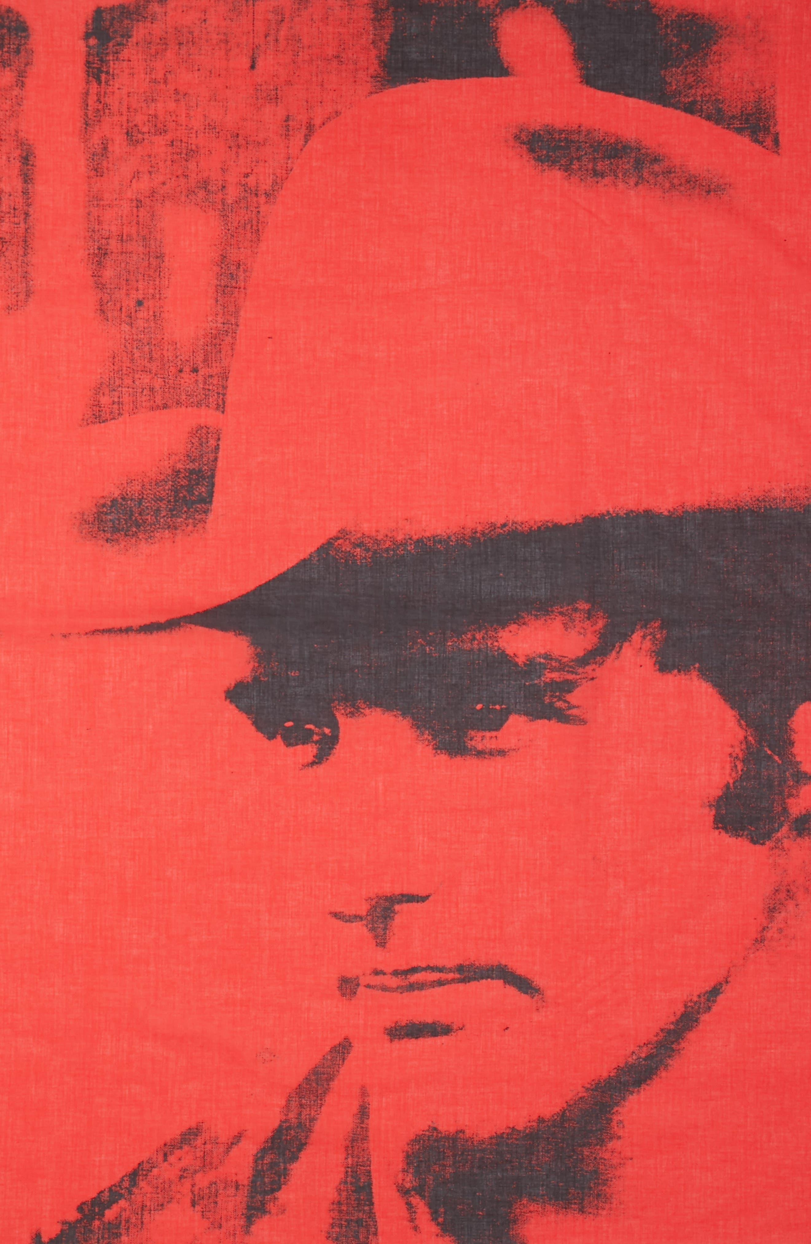 x Andy Warhol Foundation Dennis Hopper Scarf,                             Alternate thumbnail 4, color,                             Molten Lava