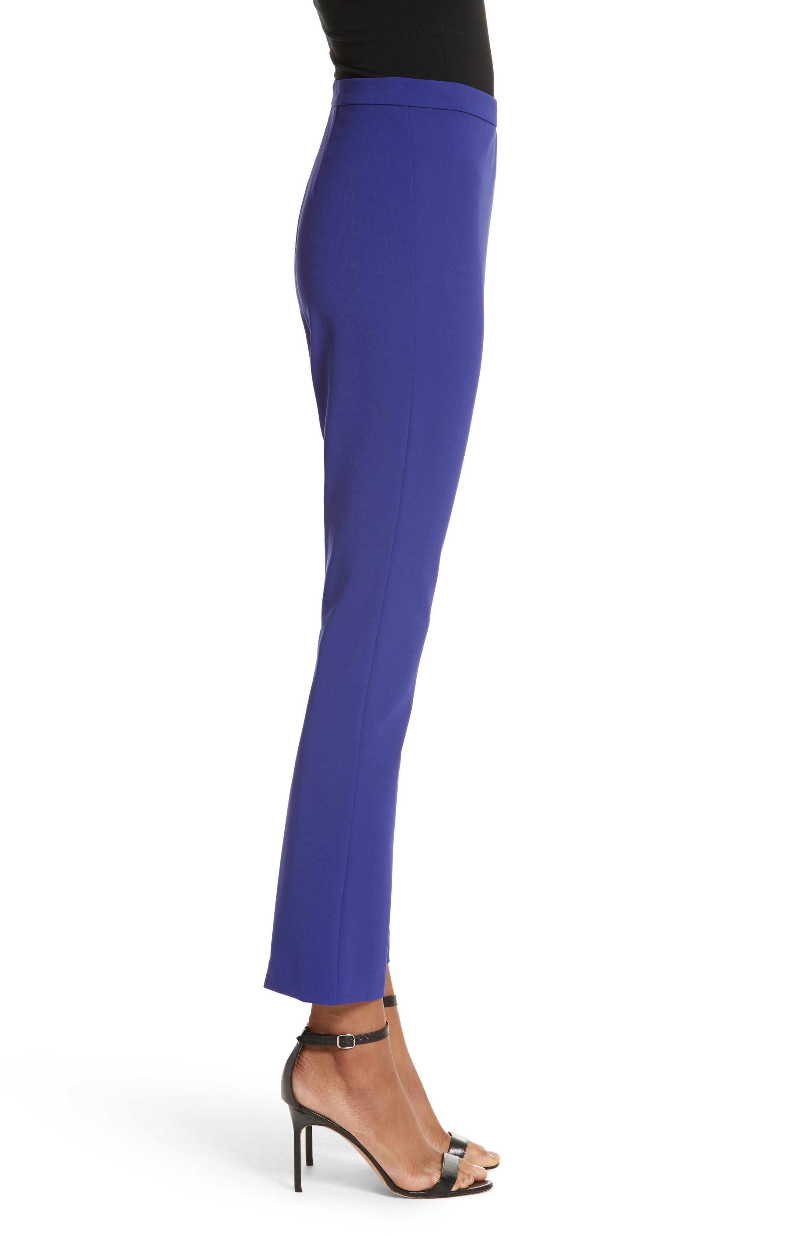 Calerno Crepe Crop Trousers,                             Alternate thumbnail 3, color,                             Violet