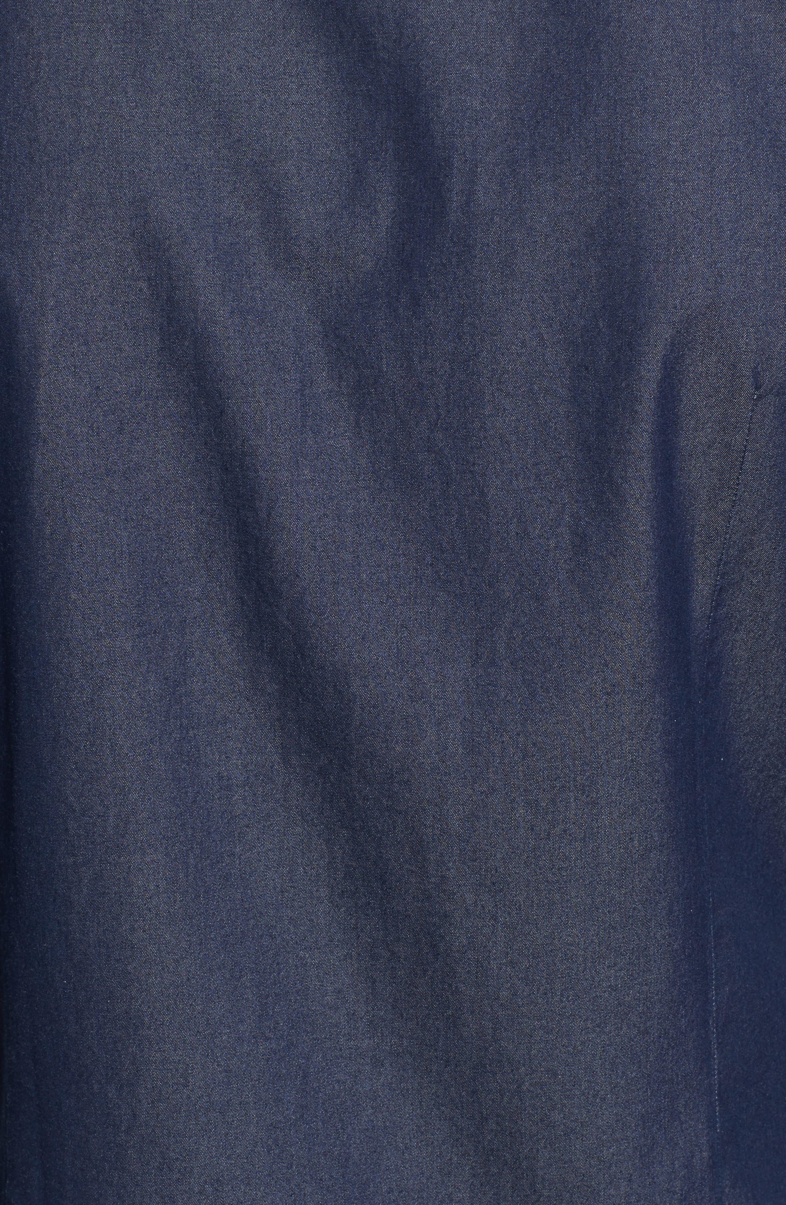 Robbie Regular Fit Denim Sport Shirt,                             Alternate thumbnail 5, color,                             Blue