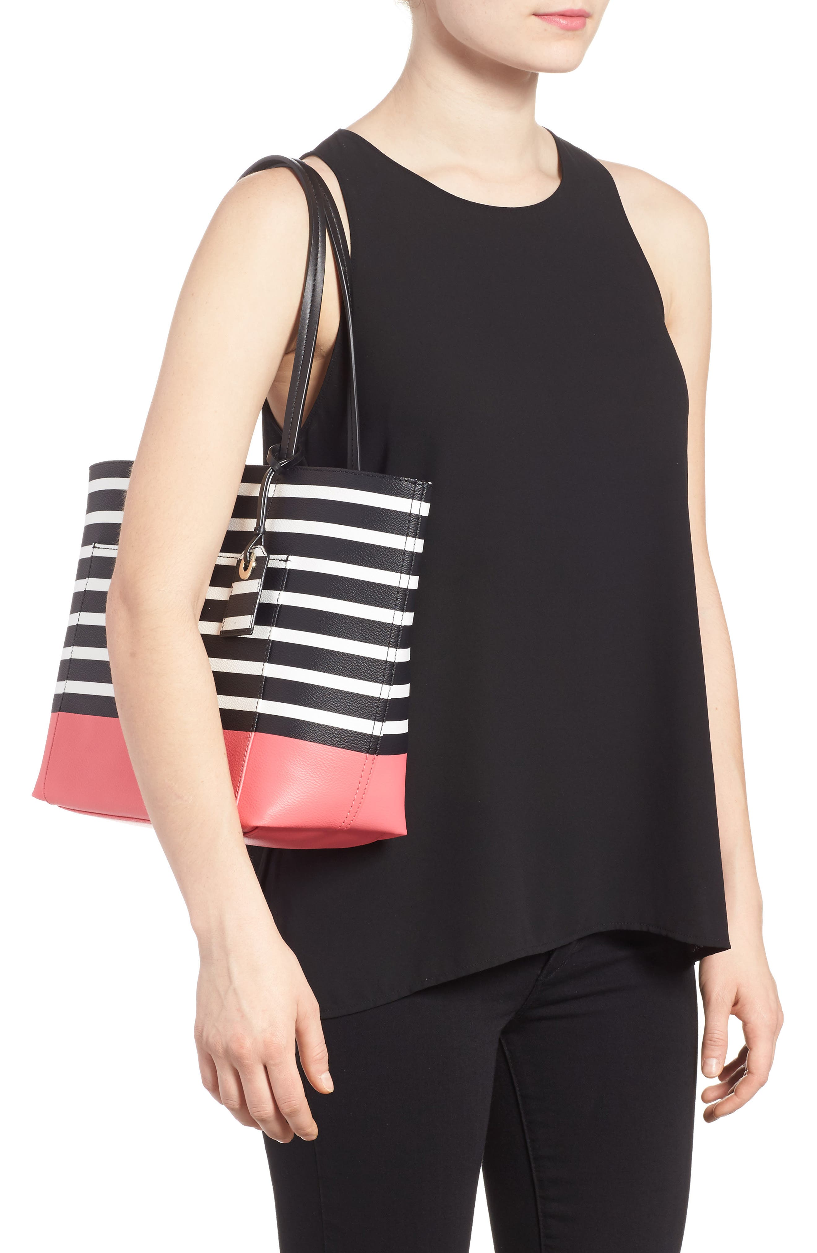 Alternate Image 2  - kate spade new york hyde lane dipped stripe - small riley tote