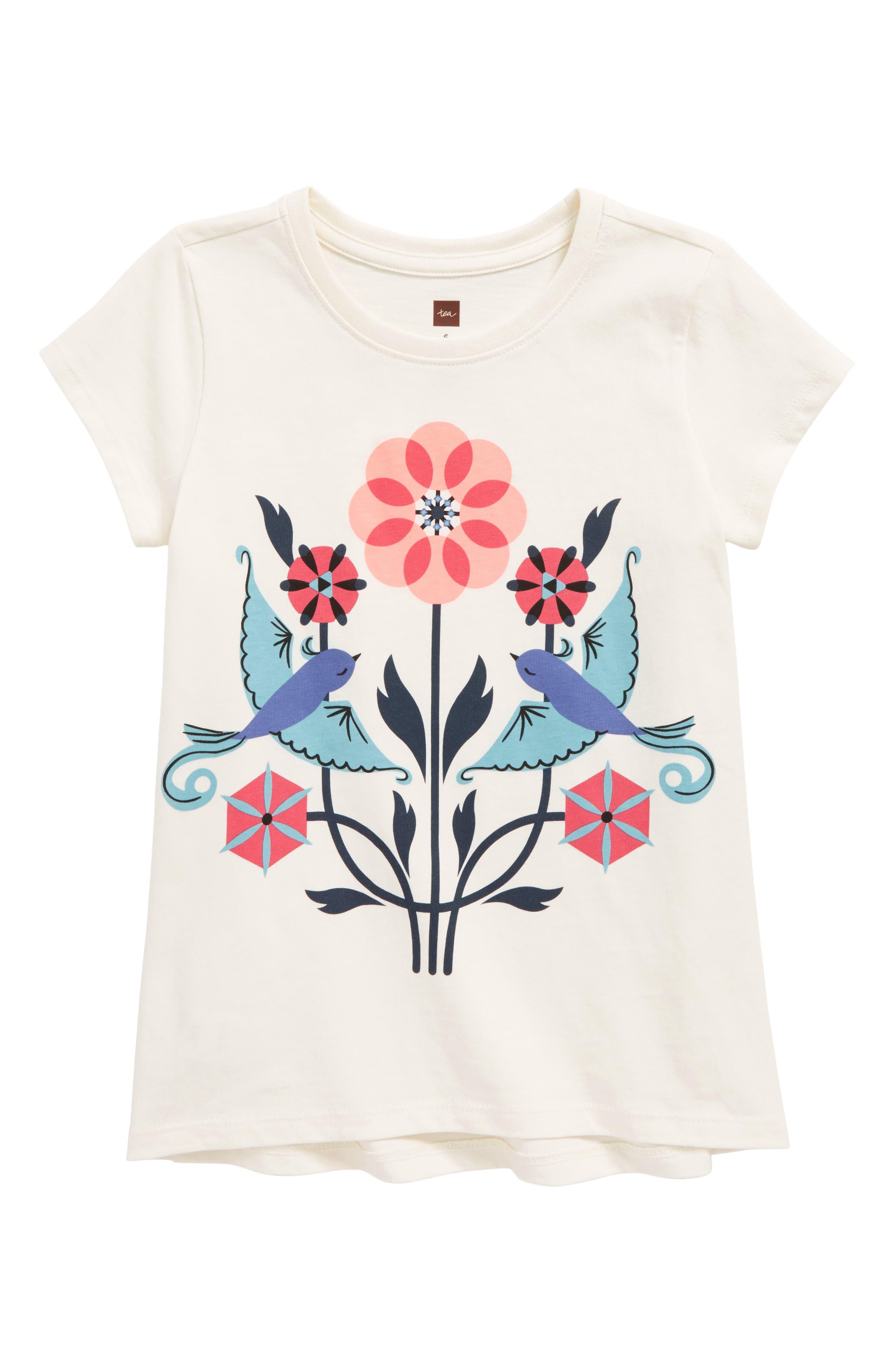 Main Image - Tea Collection Lovebirds Graphic Tee (Toddler Girls, Little Girls & Big Girls)