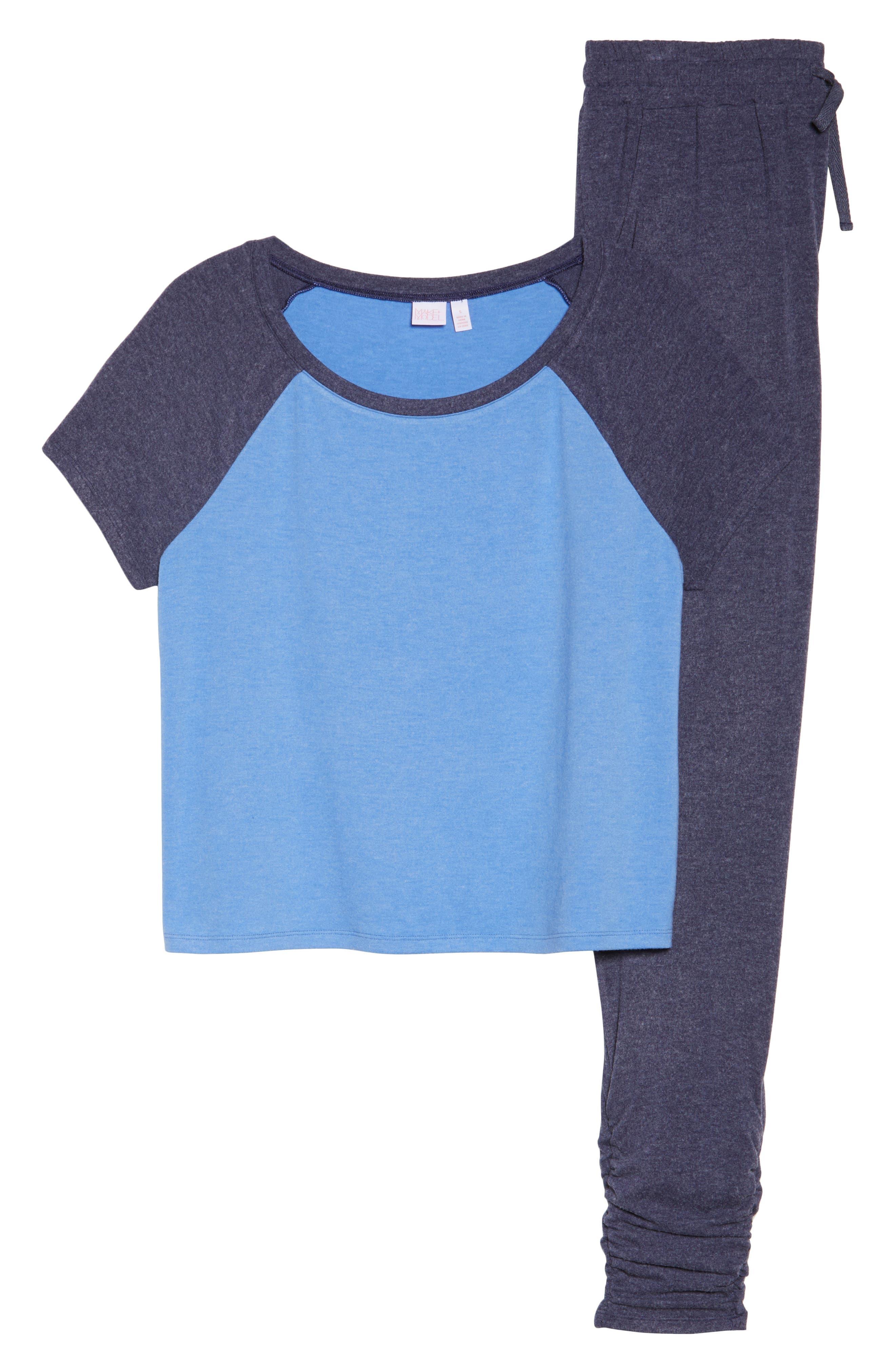 Cloud 9 Pajamas,                             Alternate thumbnail 4, color,                             Blue Azurite
