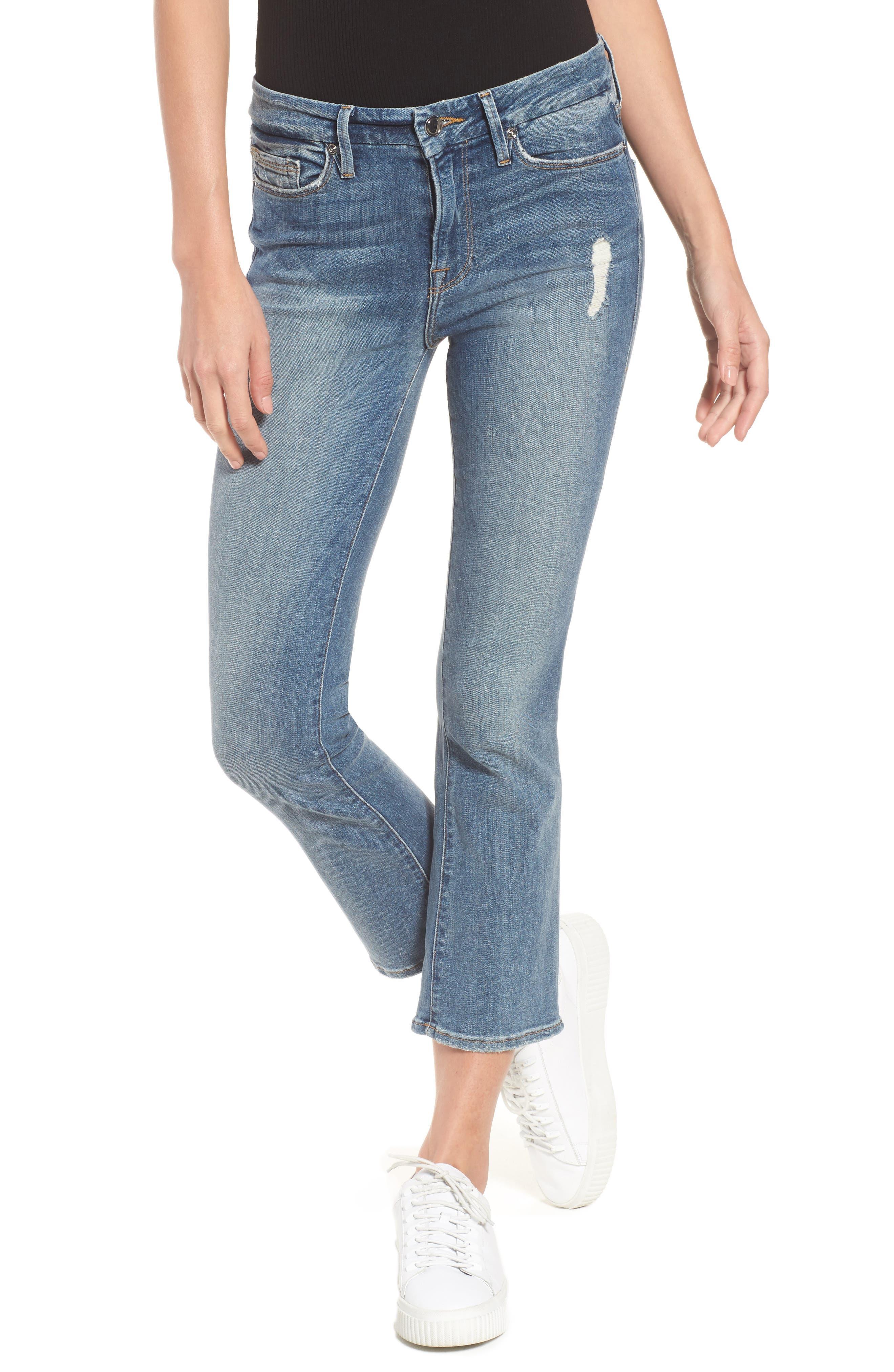Good Cuts High Rise Boyfriend Jeans,                         Main,                         color, Blue 012