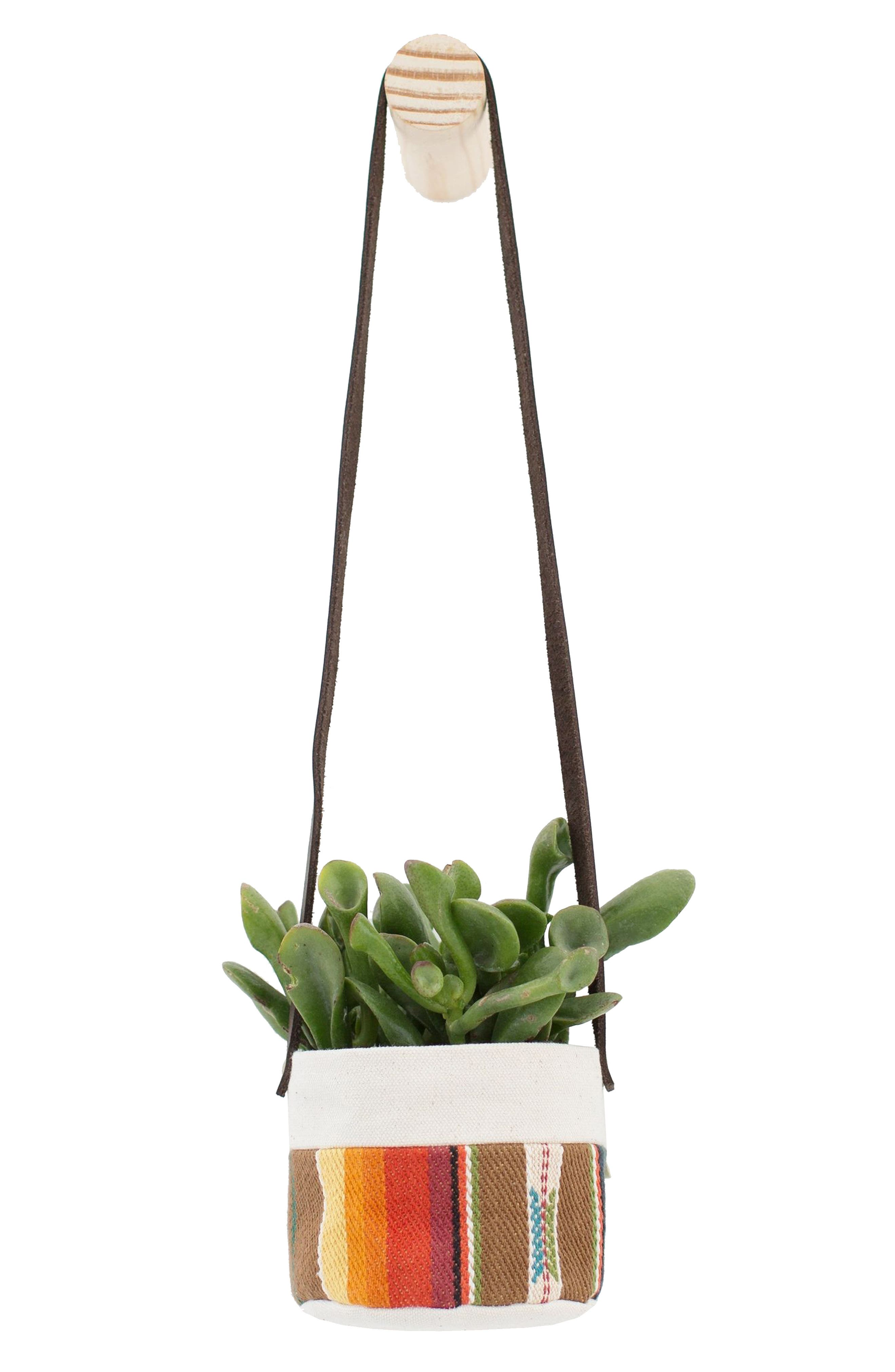 GOOD COMPANY WARES 4-Inch Stripe Canvas Hanging Planter