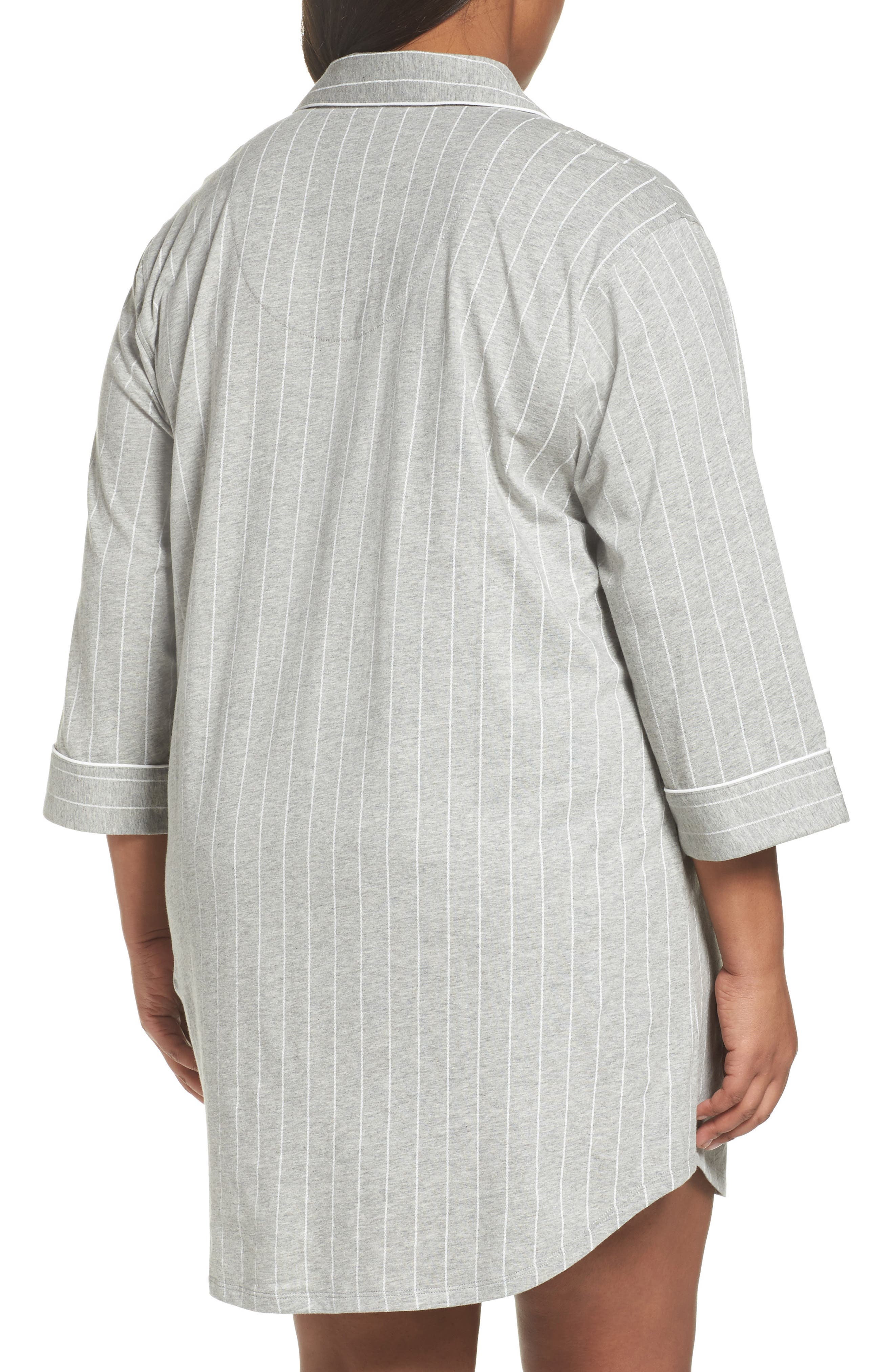 Knit Jersey Sleep Shirt,                             Alternate thumbnail 2, color,                             Greystone