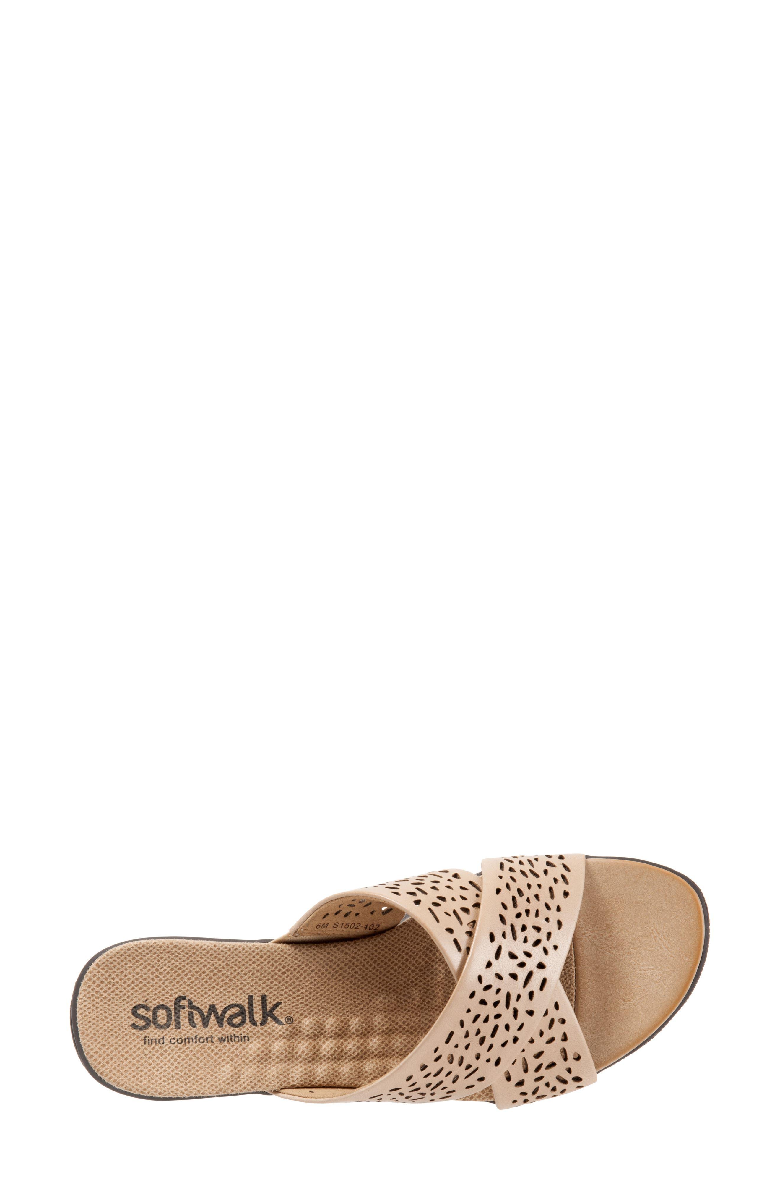 Alternate Image 5  - SoftWalk® 'Tillman' Leather Cross Strap Slide Sandal (Women)