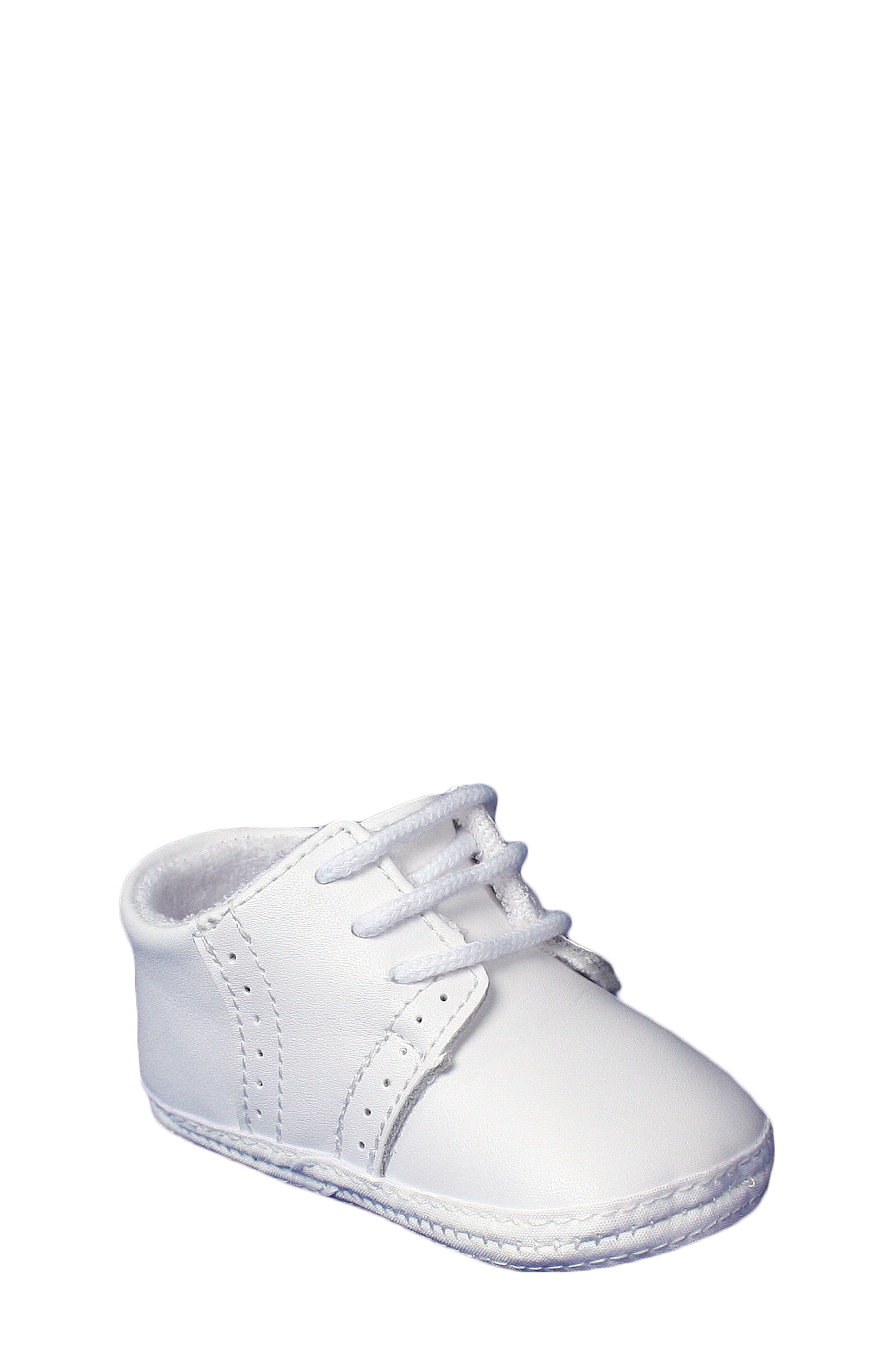 Leather Crib Shoe,                             Alternate thumbnail 5, color,                             White