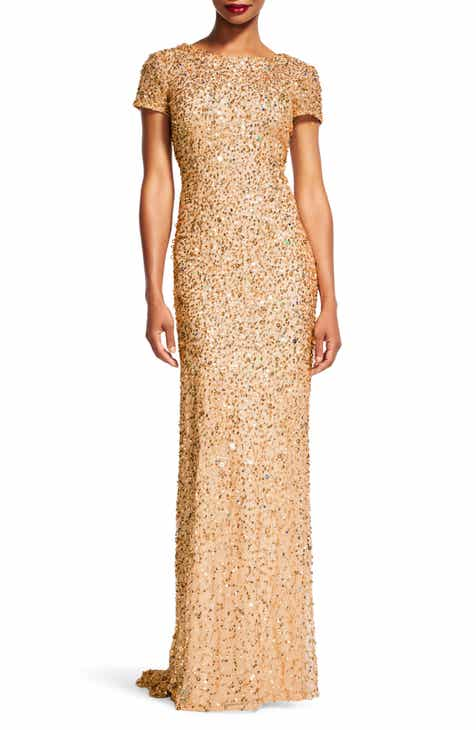 gold long dress | Nordstrom
