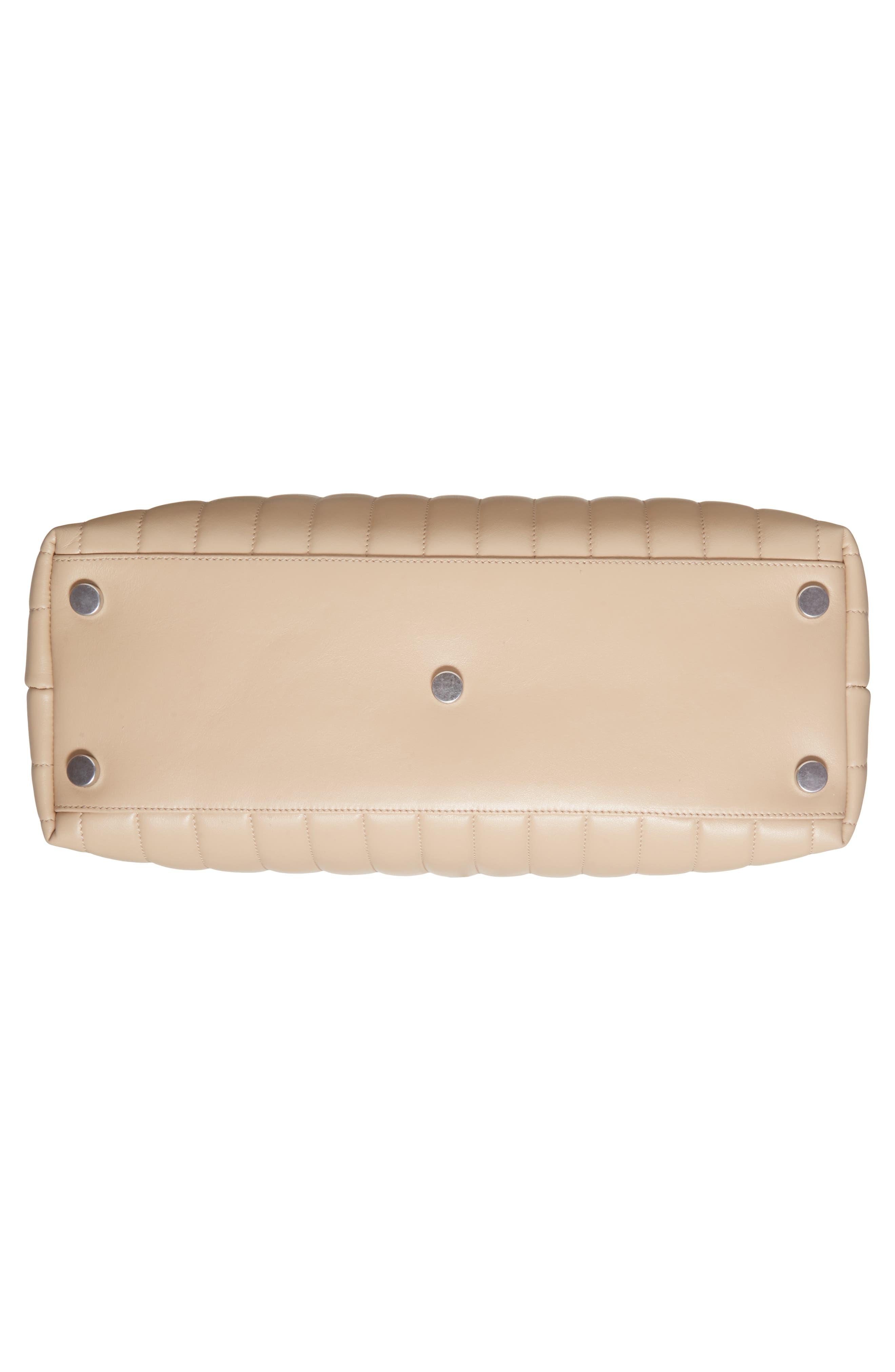 Large Loulou Matelassé Leather Shopper,                             Alternate thumbnail 6, color,                             Poudre