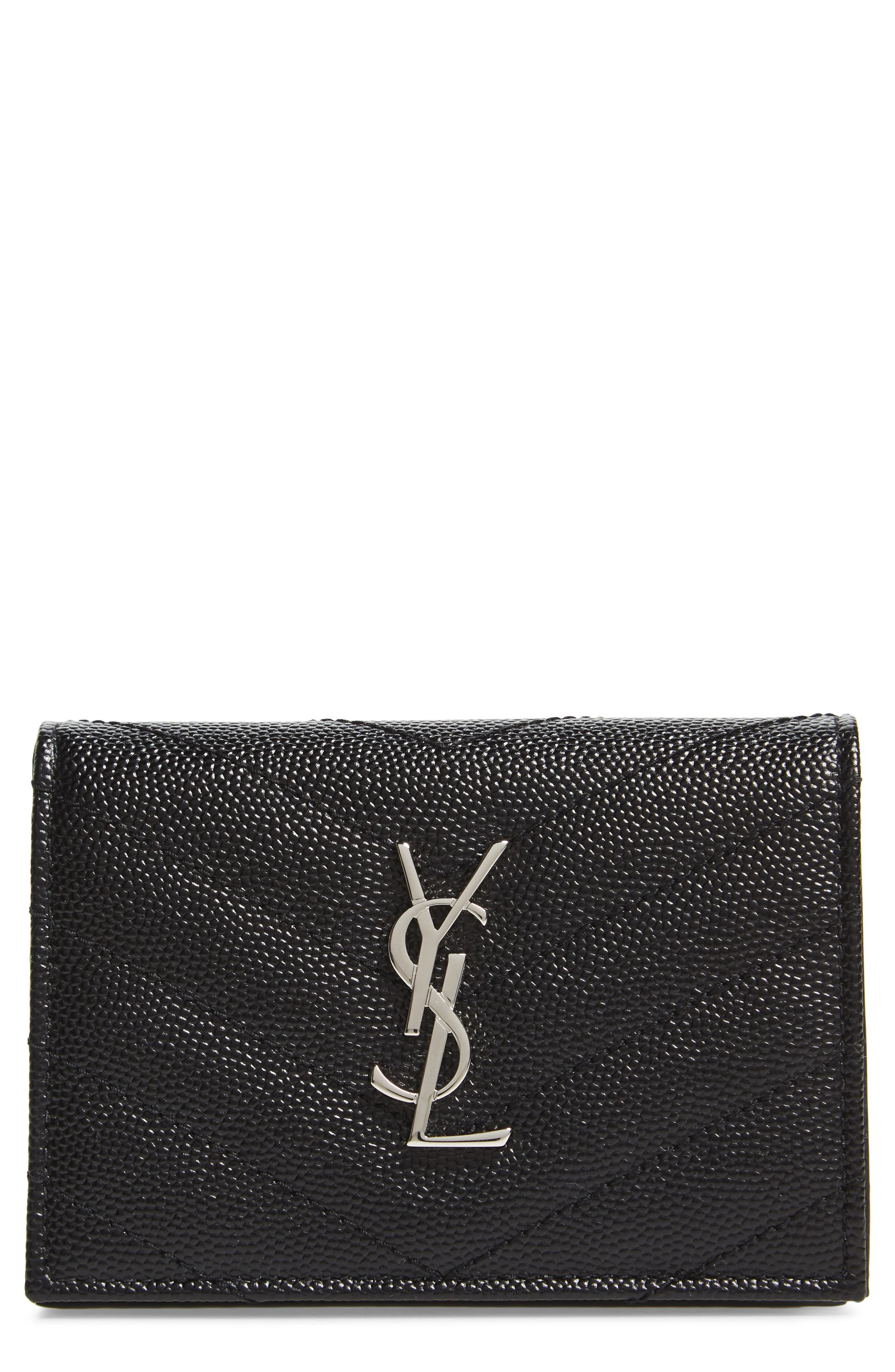Saint Laurent Textured Leather Card Case