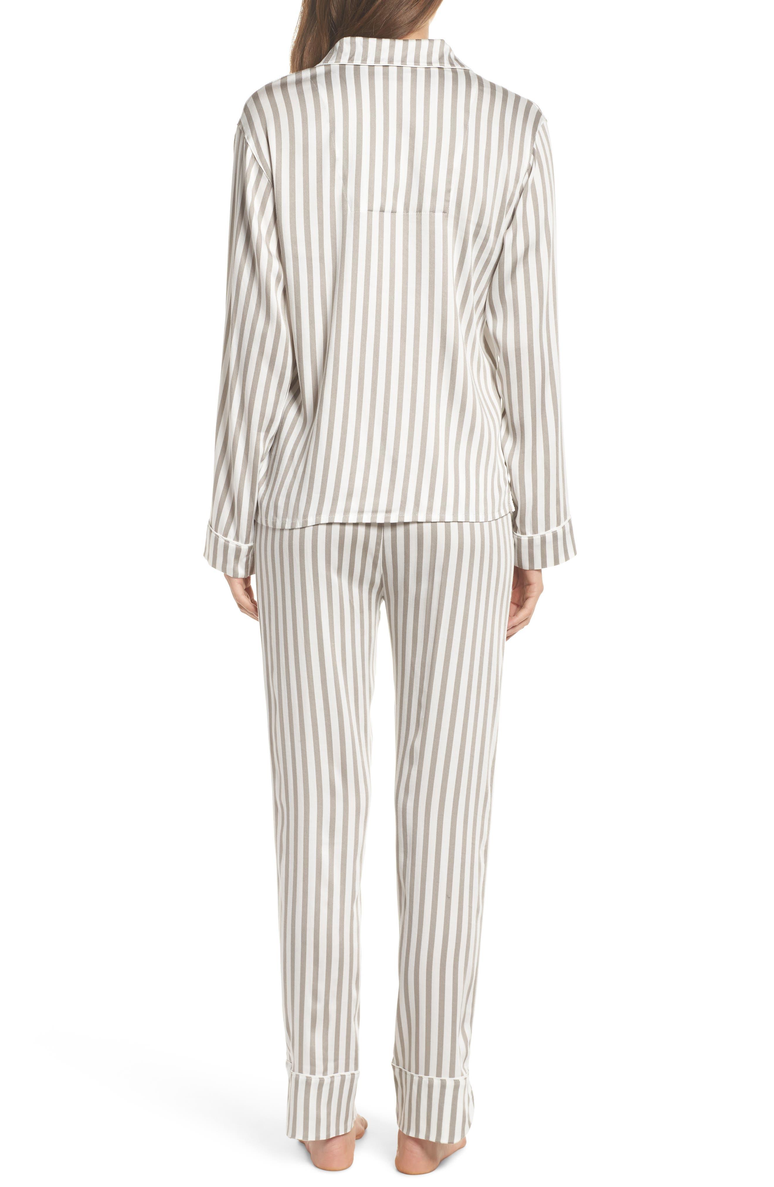 Stripe Pajamas,                             Alternate thumbnail 2, color,                             Silver