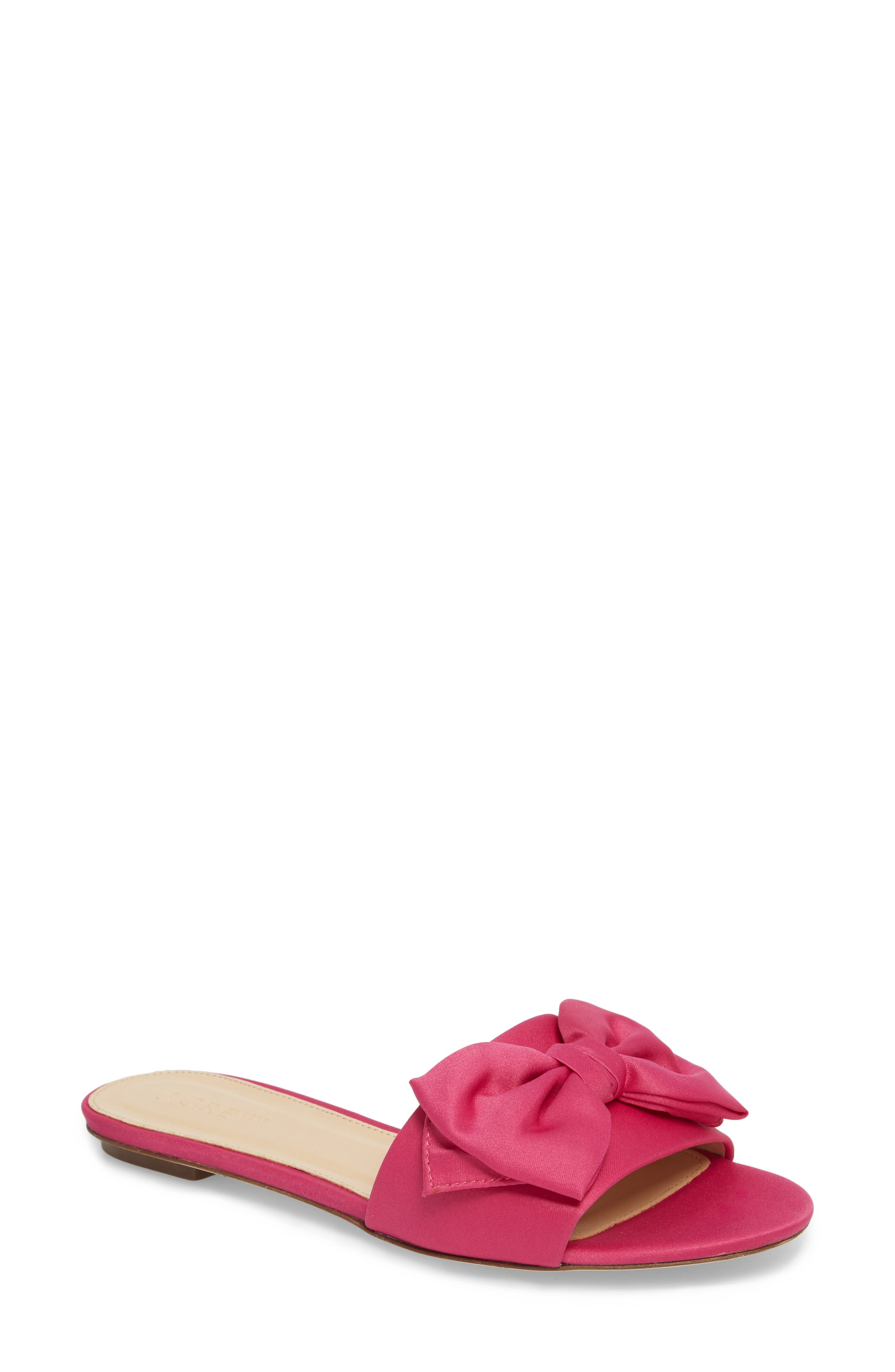 Main Image - J.Crew Knotted Satin Bow Slide (Women)