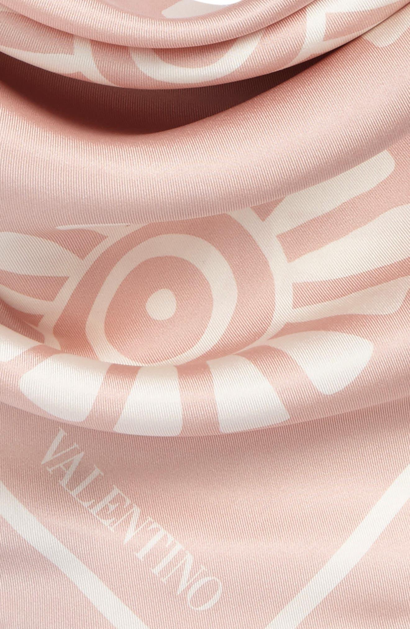 GARAVANI Medallion Print Square Silk Scarf,                             Alternate thumbnail 3, color,                             0Lz Rose Mist