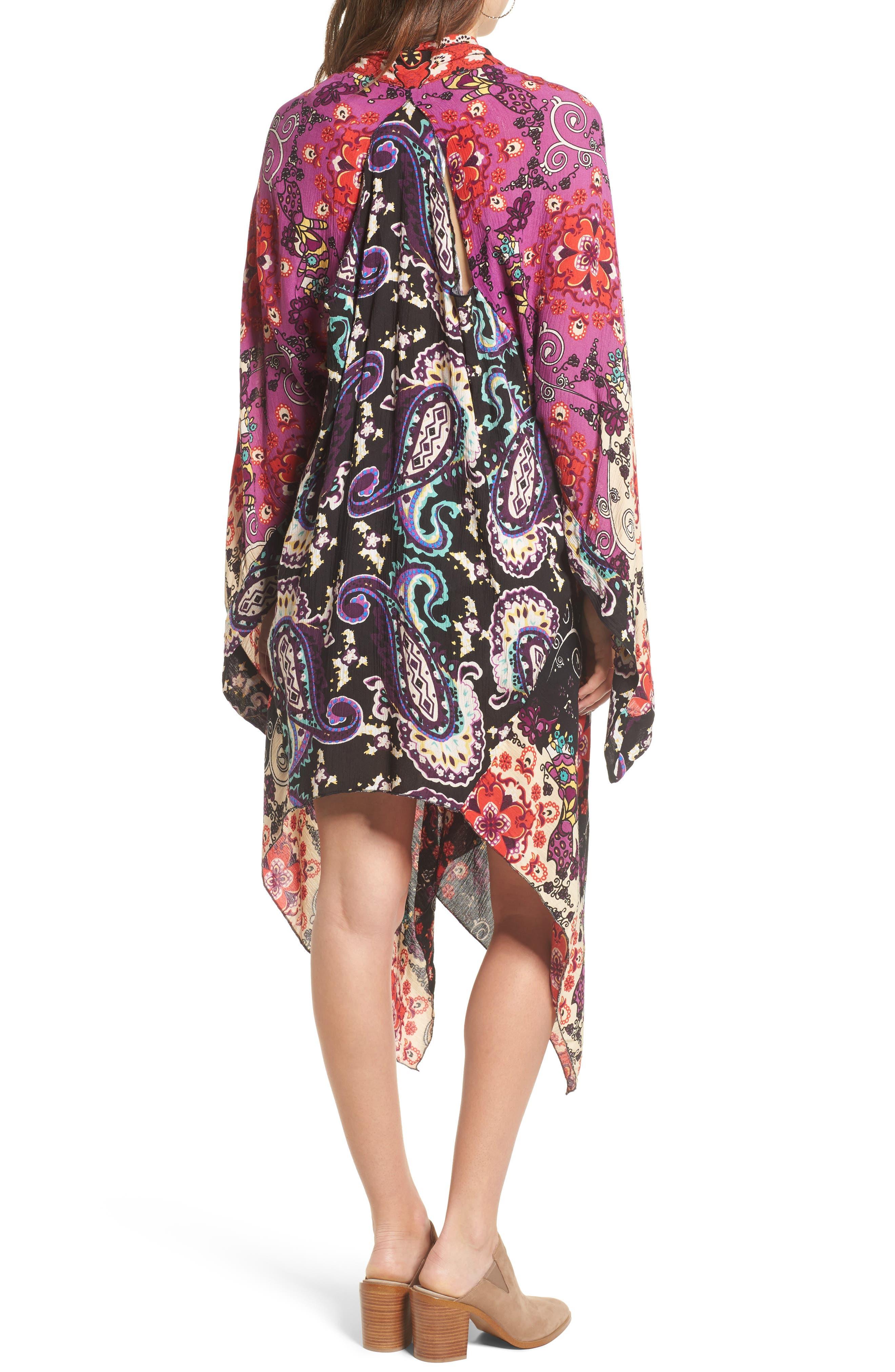Little Wing Kimono,                             Alternate thumbnail 2, color,                             Plum Combo