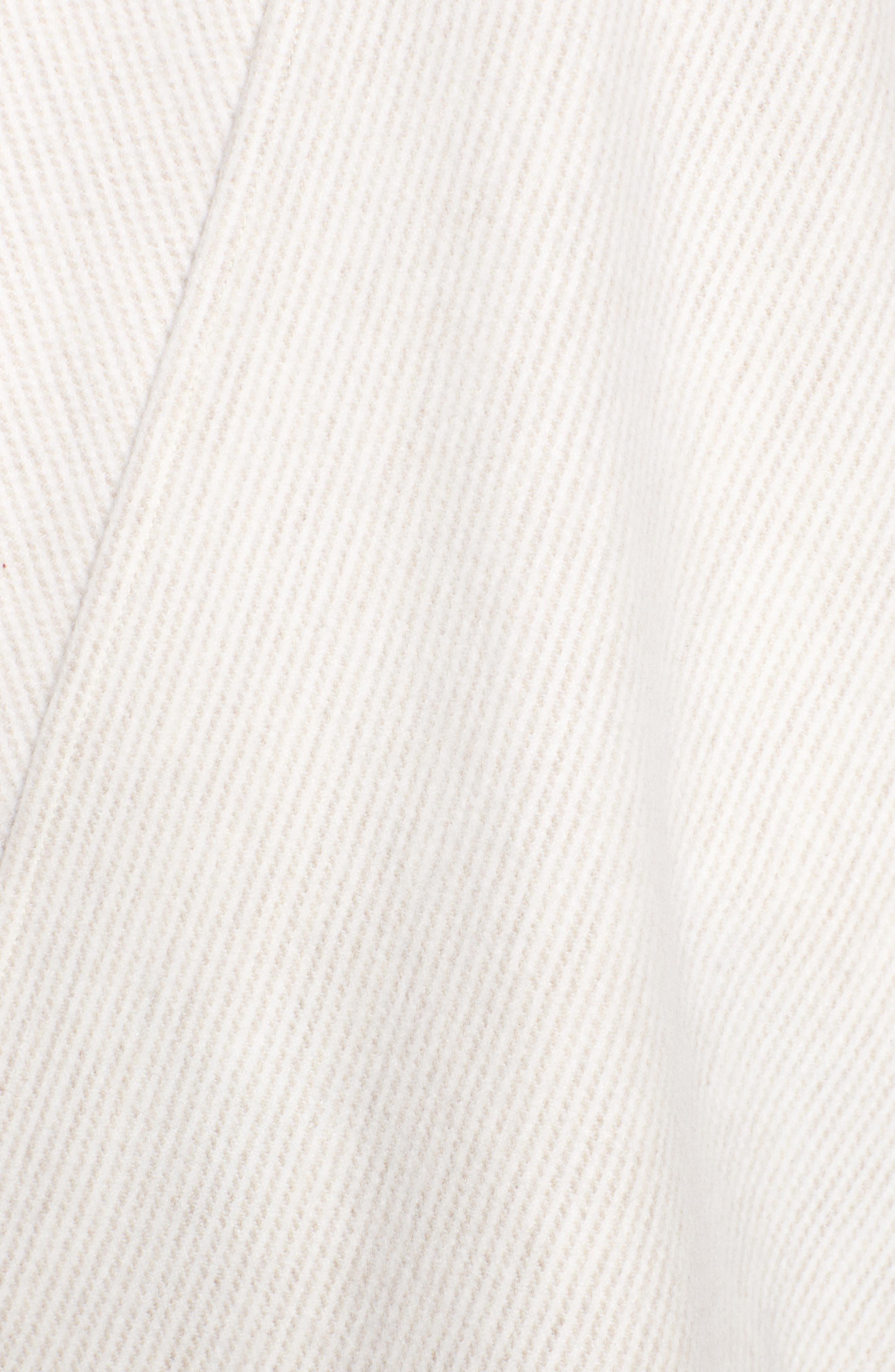 Skinny Stripe Wool Wrap,                             Alternate thumbnail 5, color,                             Camel Multi