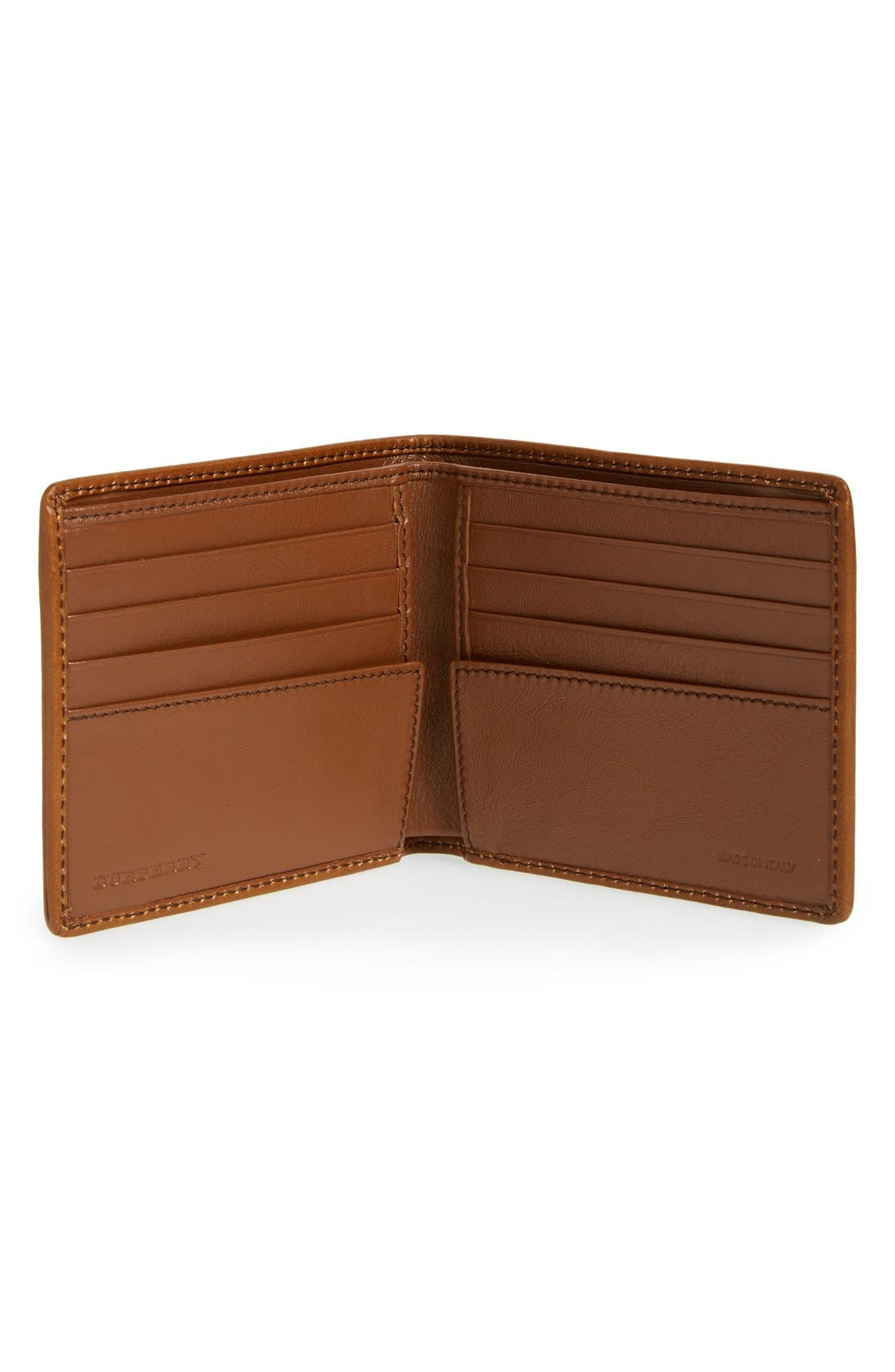 Horseferry Check Billfold Wallet,                             Alternate thumbnail 2, color,                             Tan